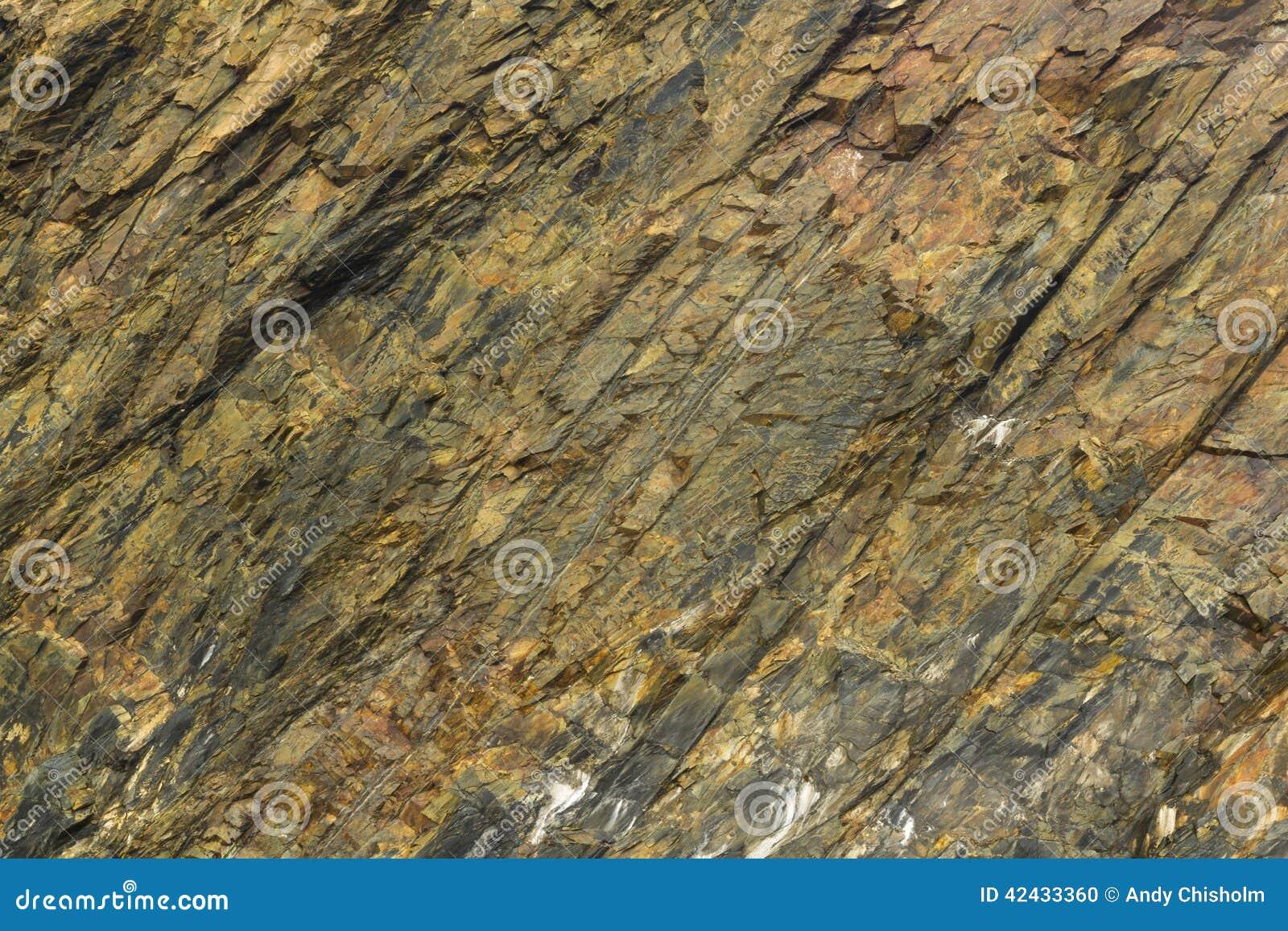Cara de la roca de la pizarra, fondo de la textura