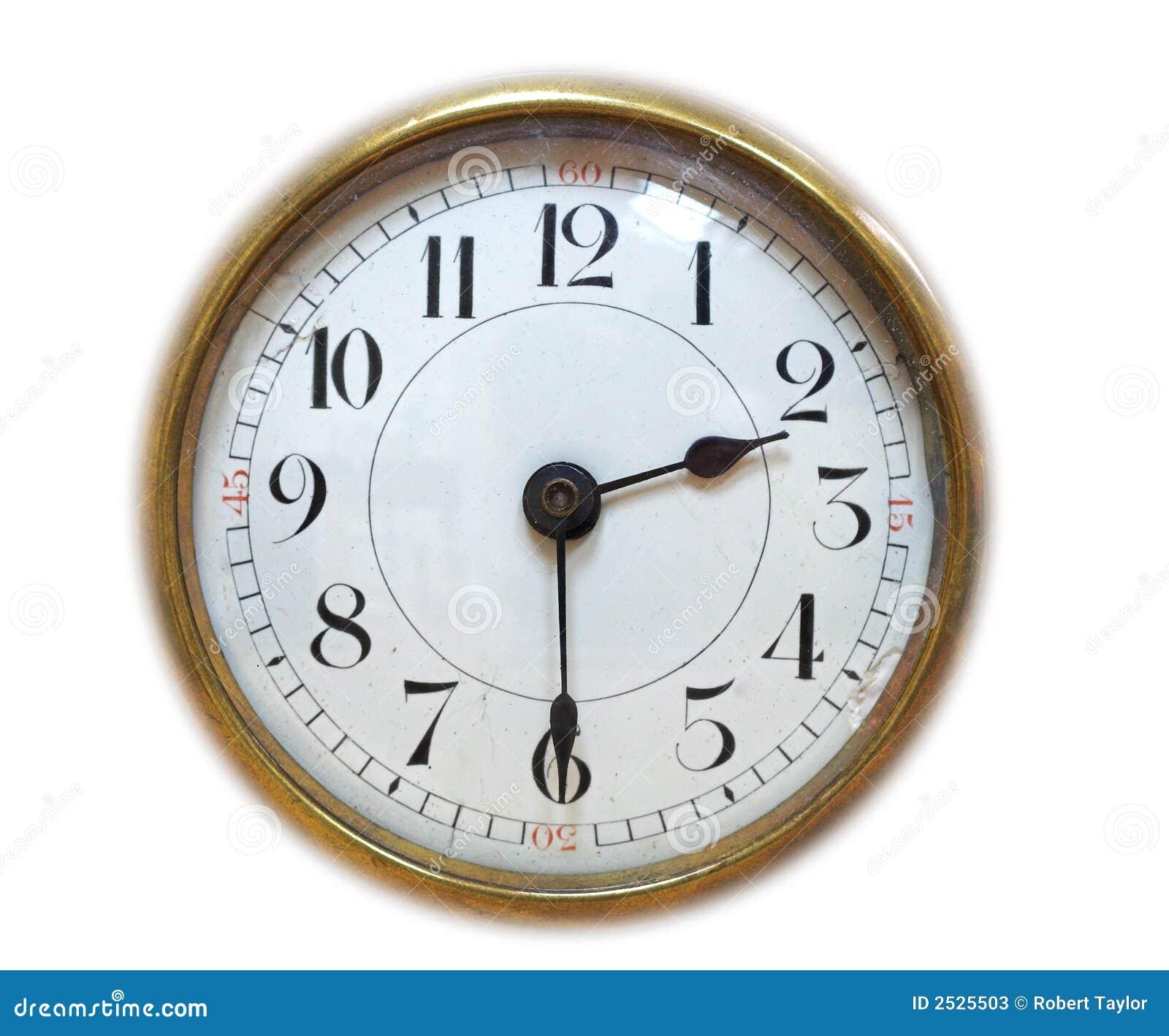 Cara de reloj antigua