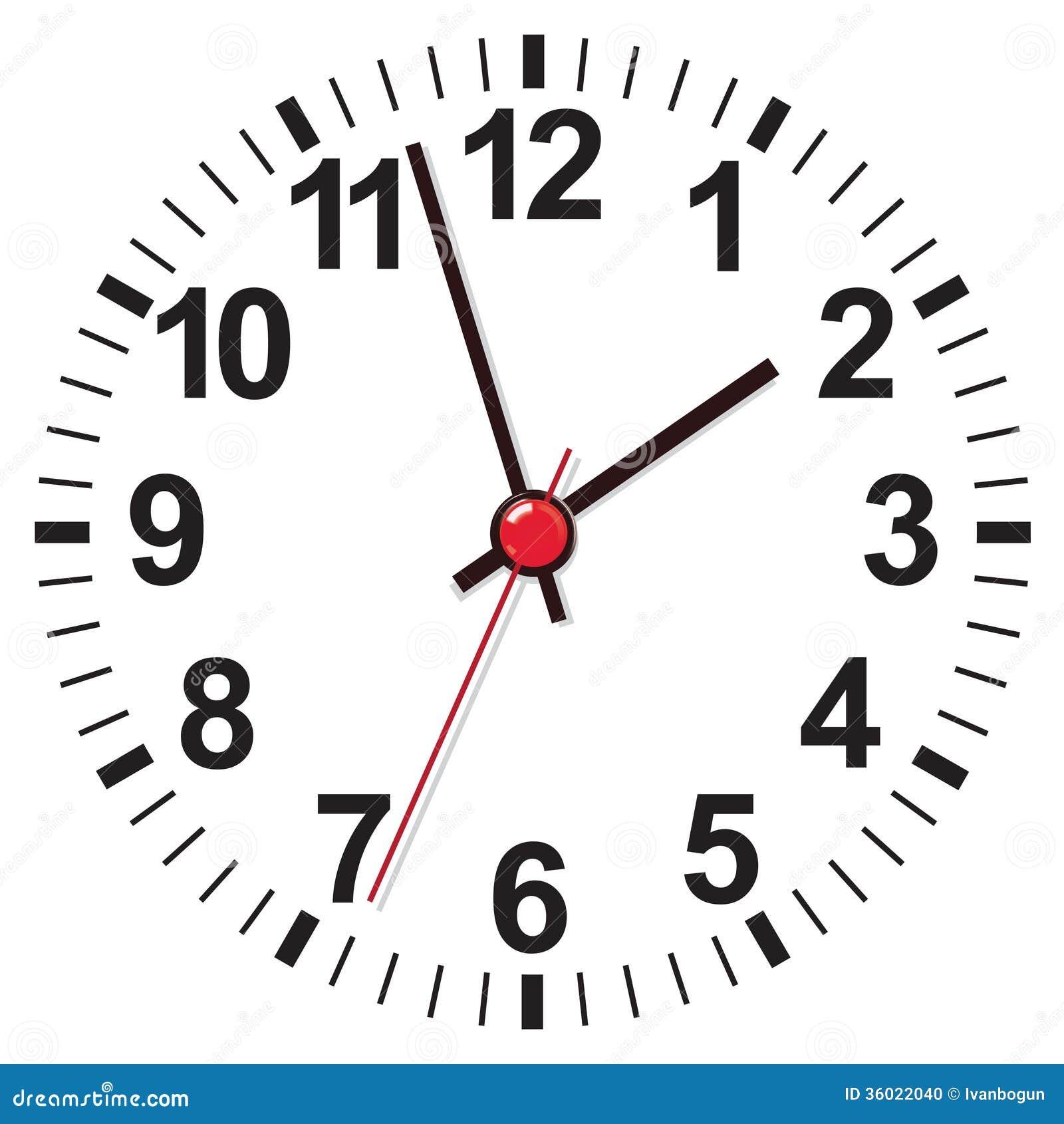 Cara de reloj ejemplo del vector foto de archivo imagen for Imagenes de relojes