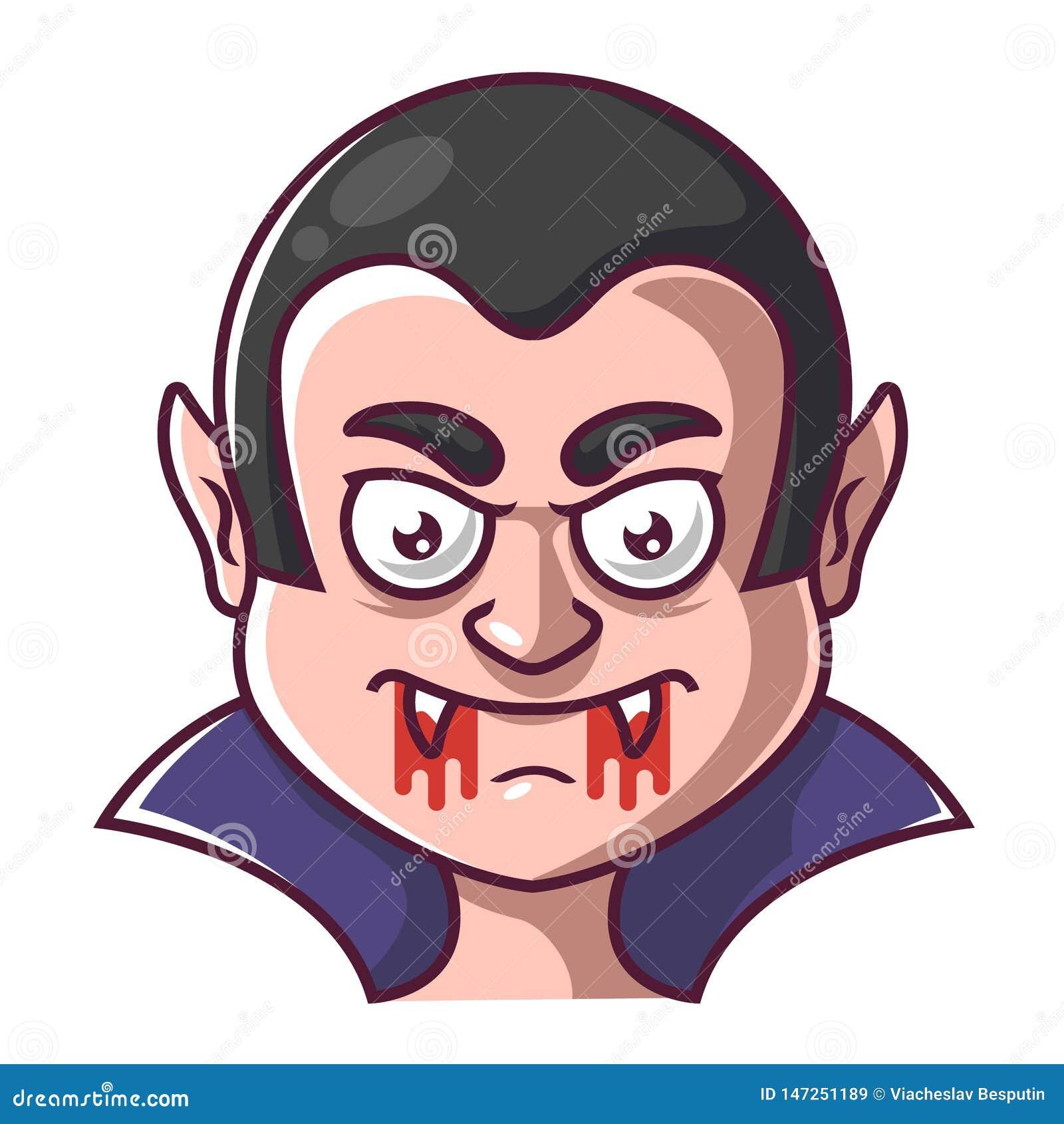 Cara de um vampiro dracula