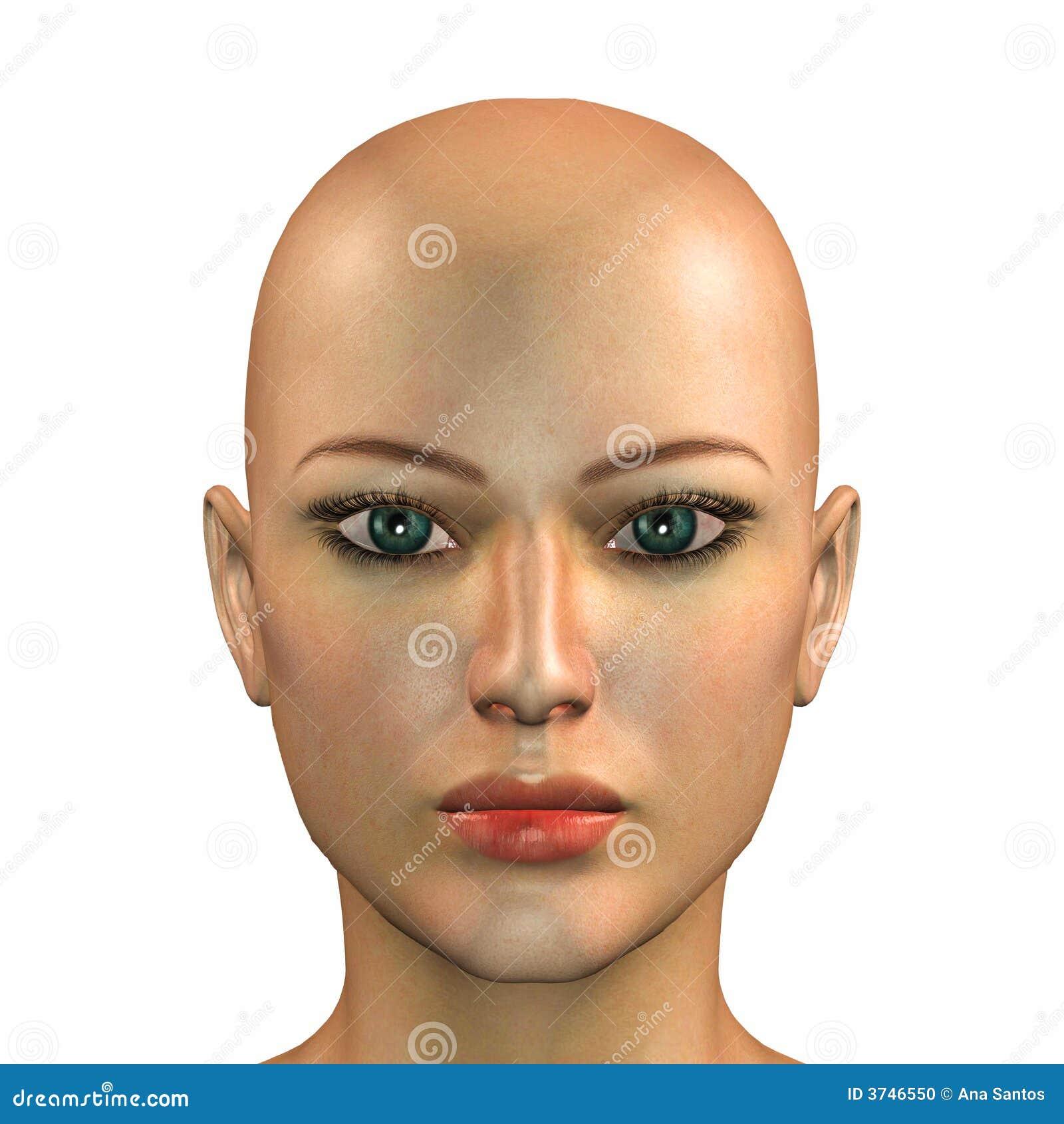 Cara De Una Mujer Caucásica Stock de ilustración - Ilustración de ...