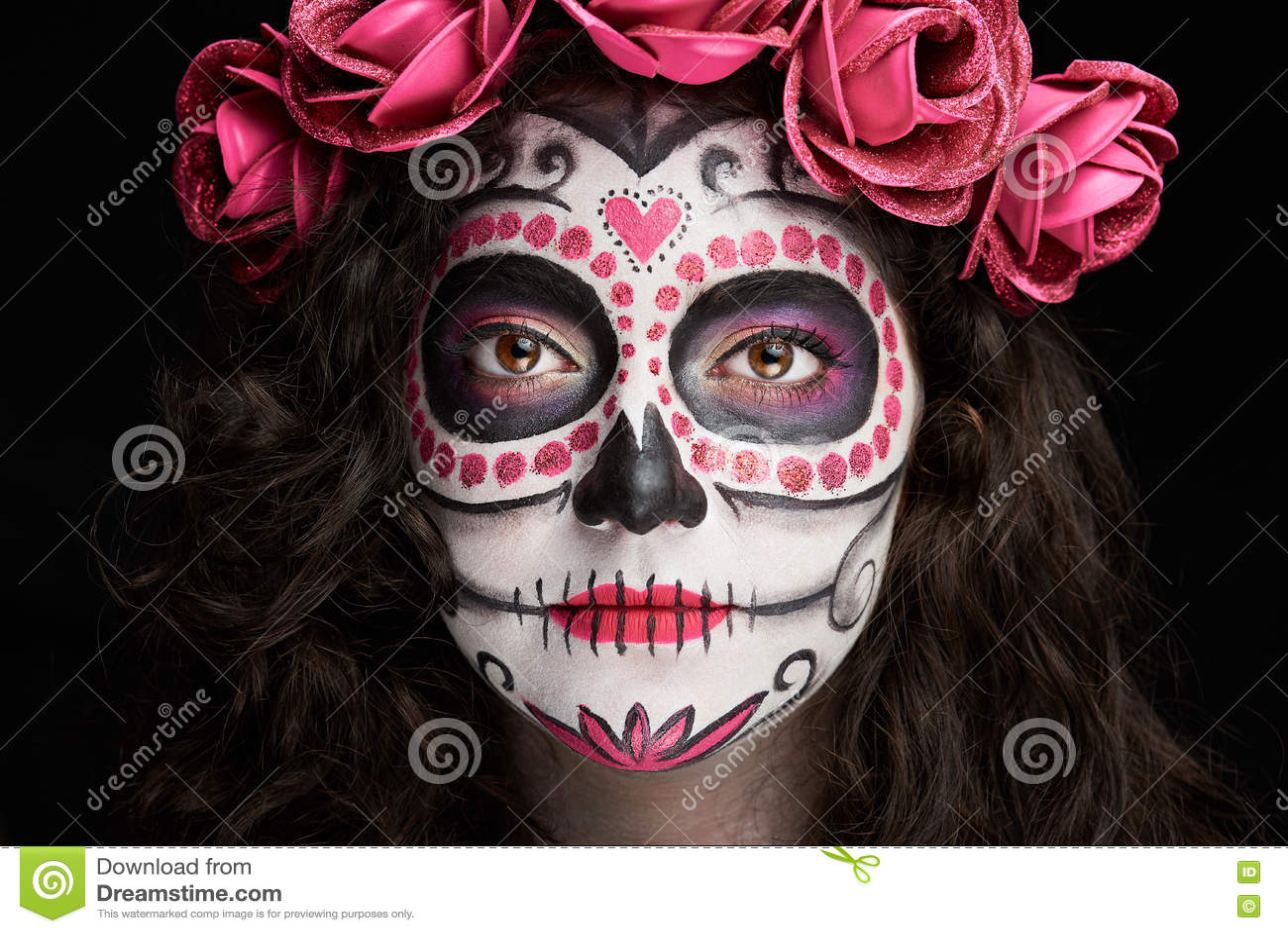 Maquillaje Craneo Caras Mexico Wwwmiifotoscom