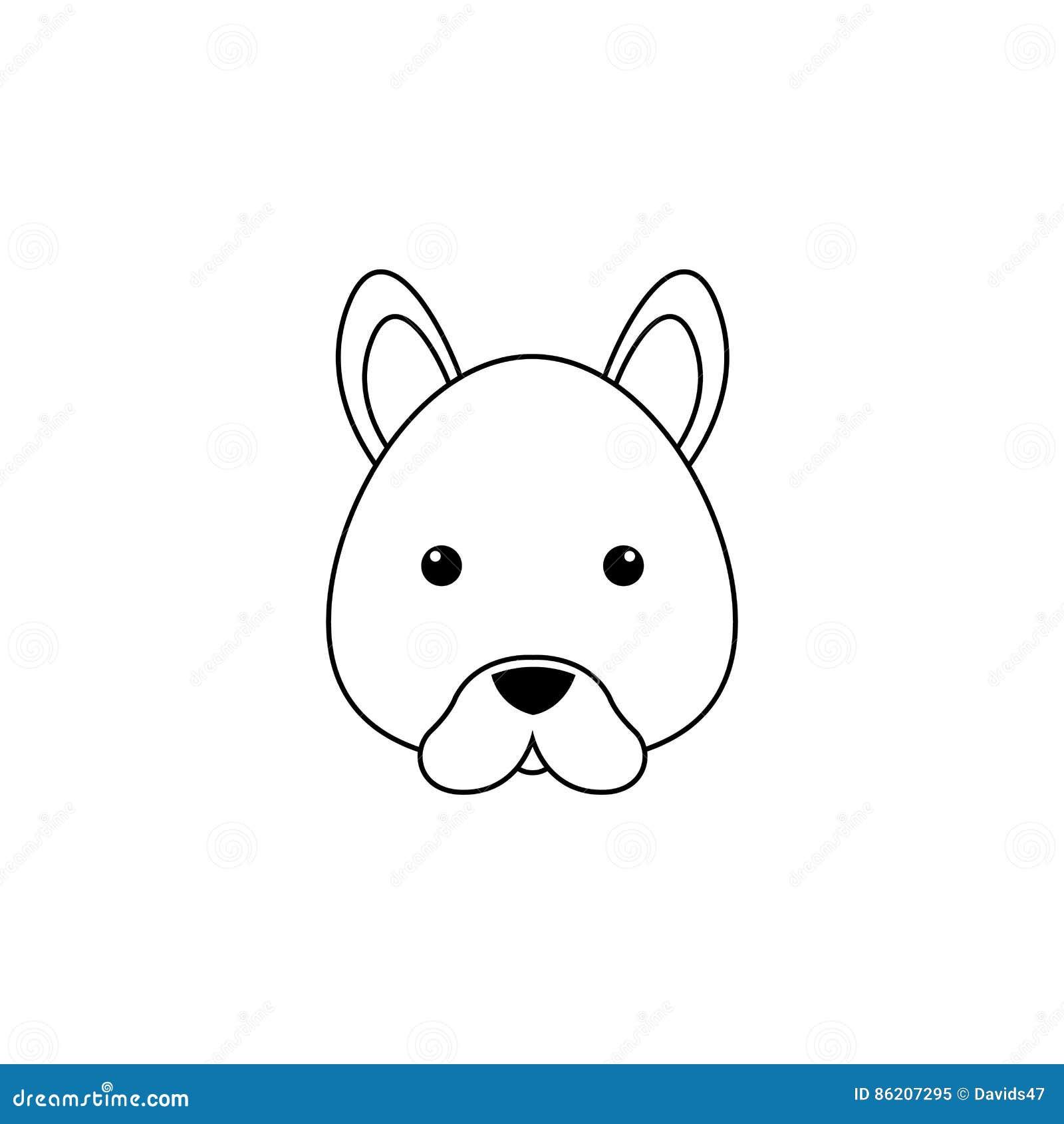 Cara Del Dibujo Del Perro Ilustración Del Vector Ilustración De