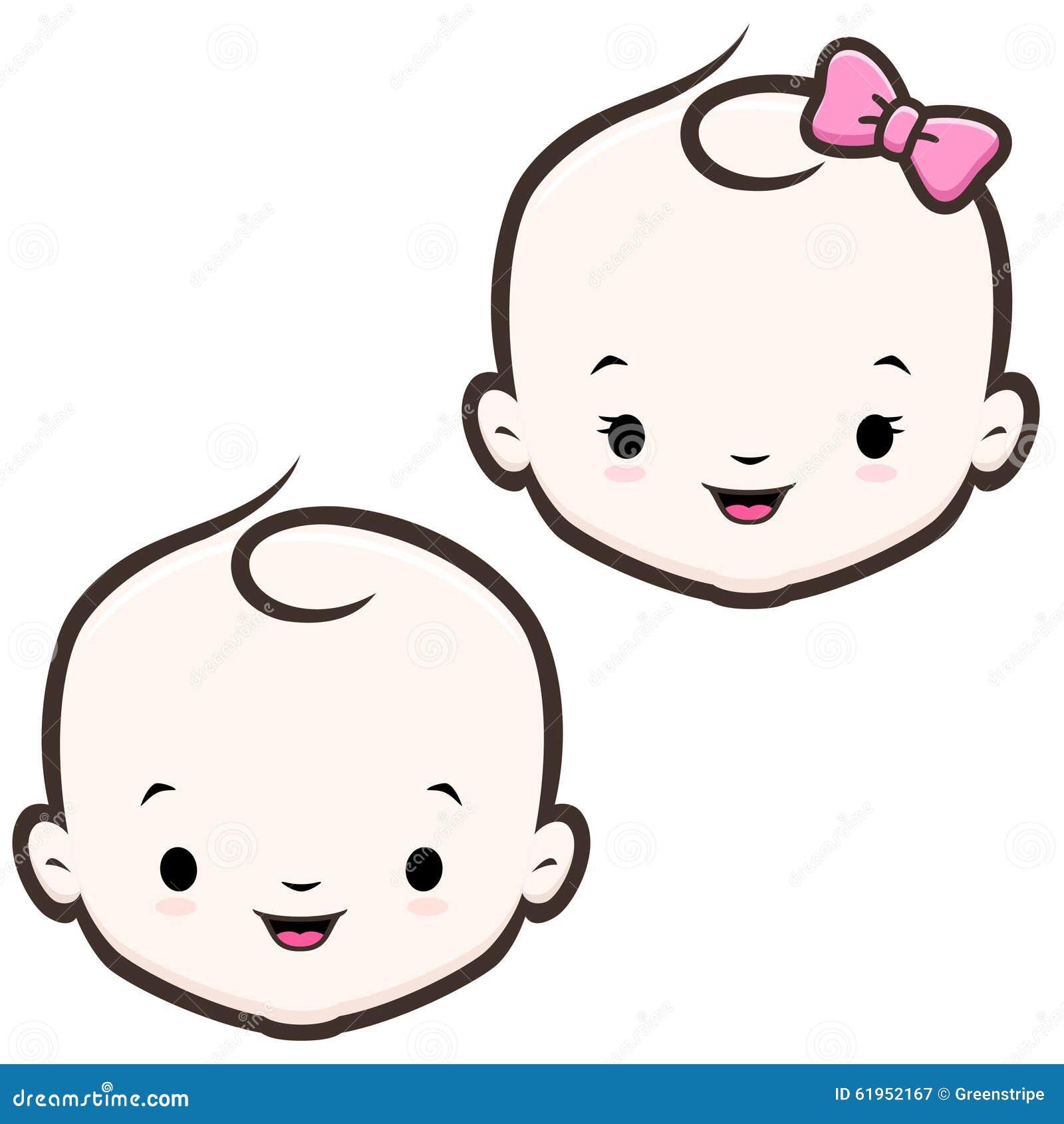 download cara do beb dos desenhos animados ilustrao do vetor ilustrao de engraado vetor