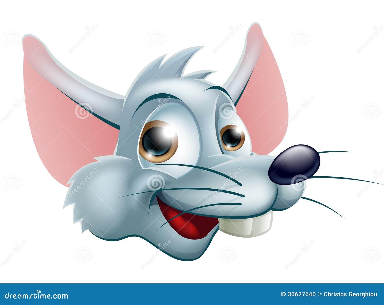cara do rato dos desenhos animados ilustração do vetor ilustração