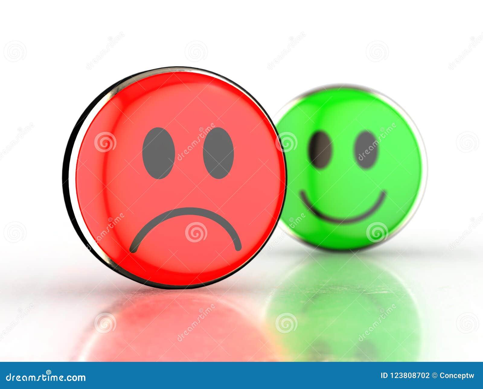 Cara Feliz Y Cara Triste Stock De Ilustración