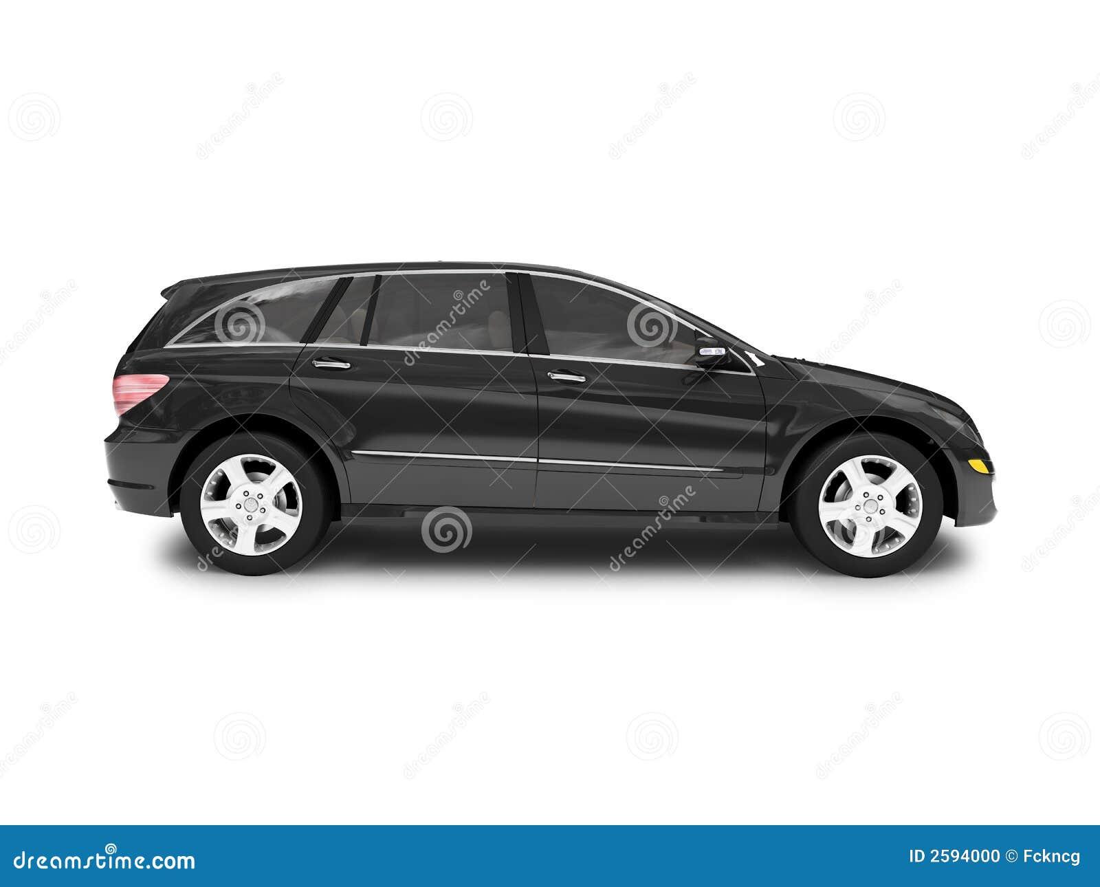 Cara negra aislada del coche