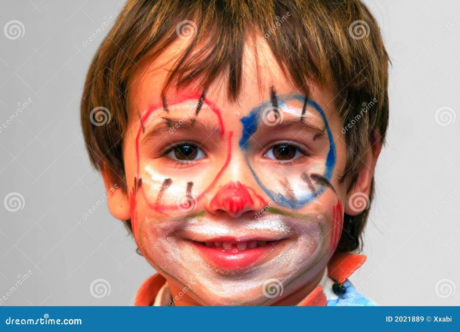 Cara pintada del muchacho im genes de archivo libres de for Cara pintada diablo