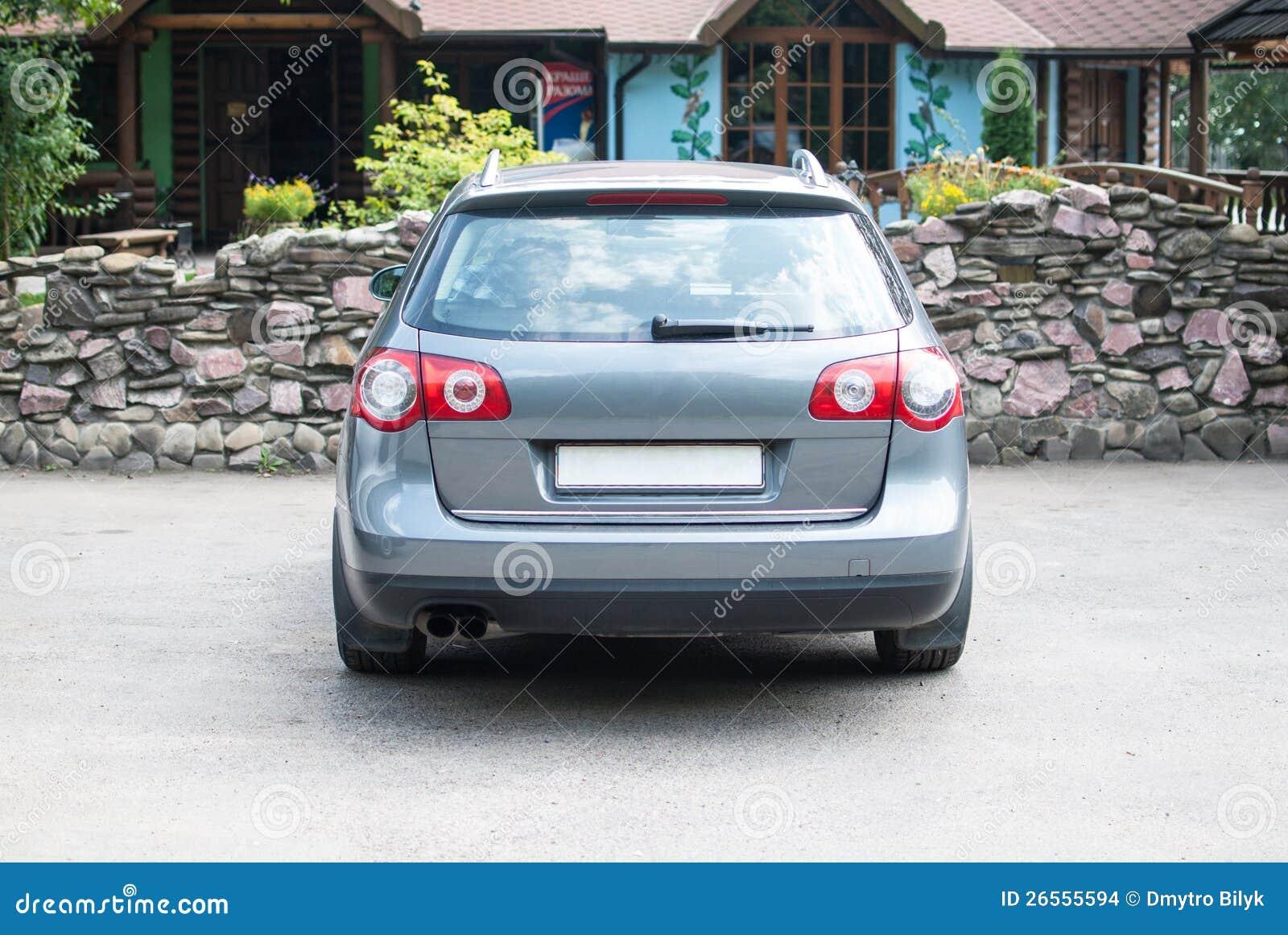 Cara posterior del coche