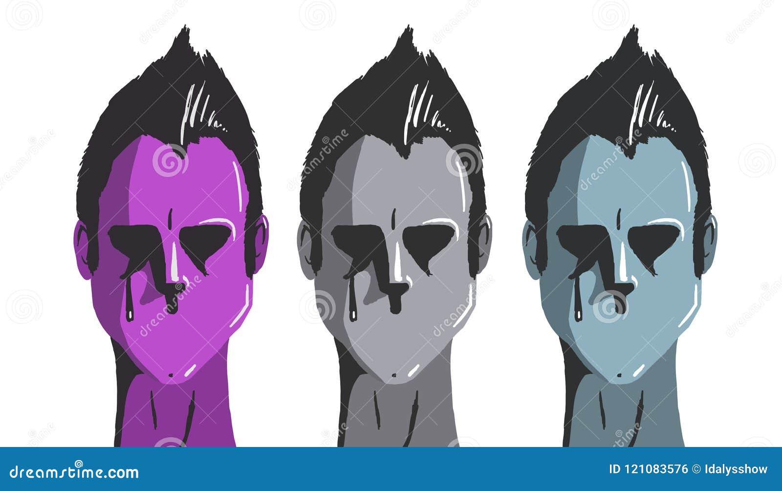 Cara três sem boca