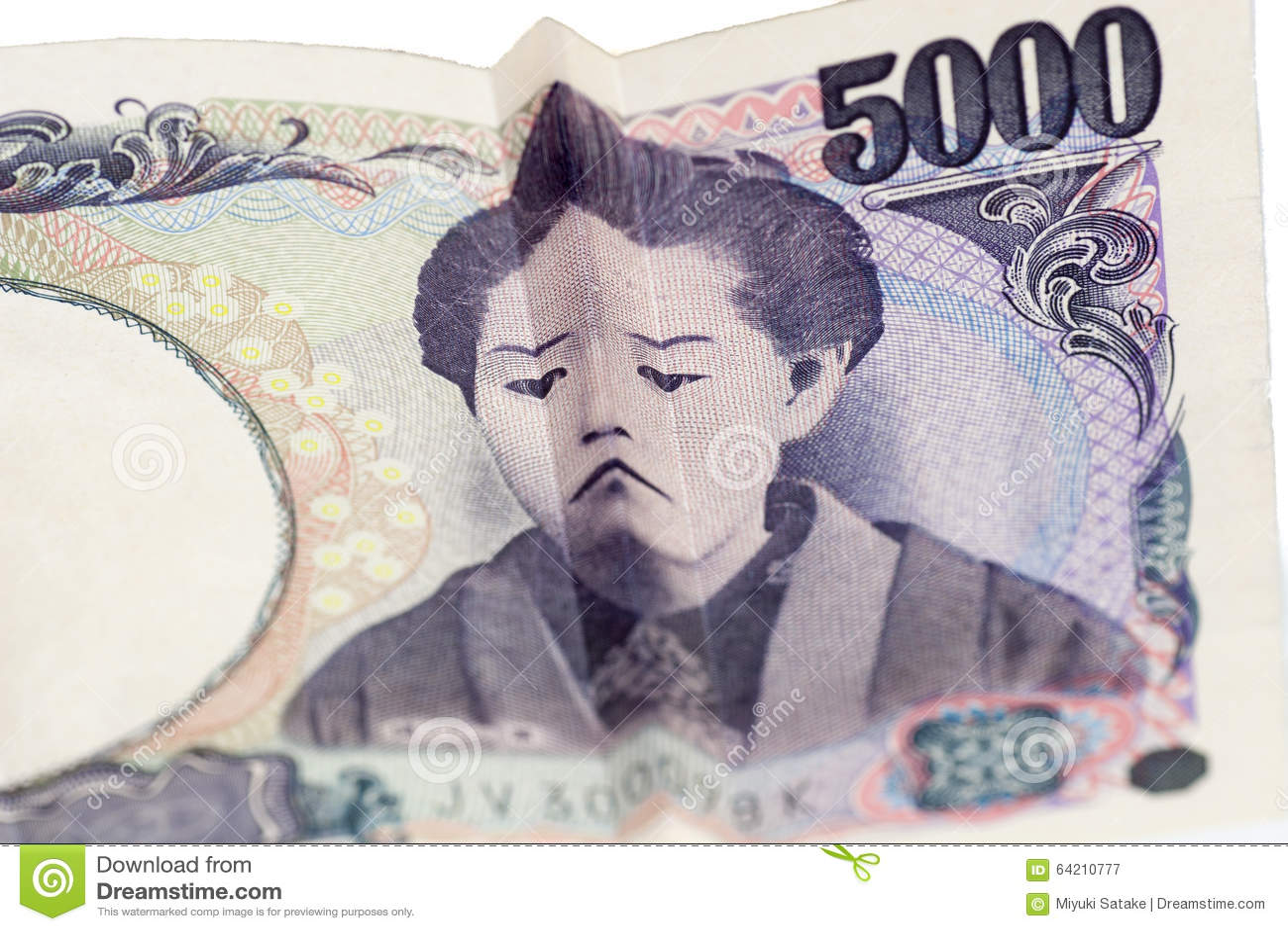 Cara triste en cuenta japonesa