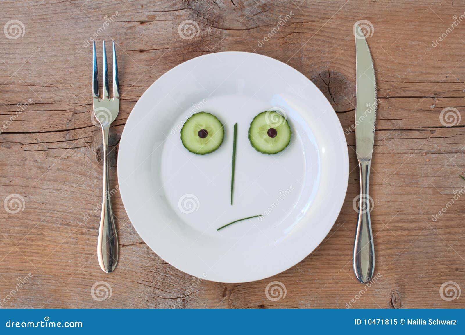 Cara vegetal en la placa - varón, dado una sacudida eléctrica