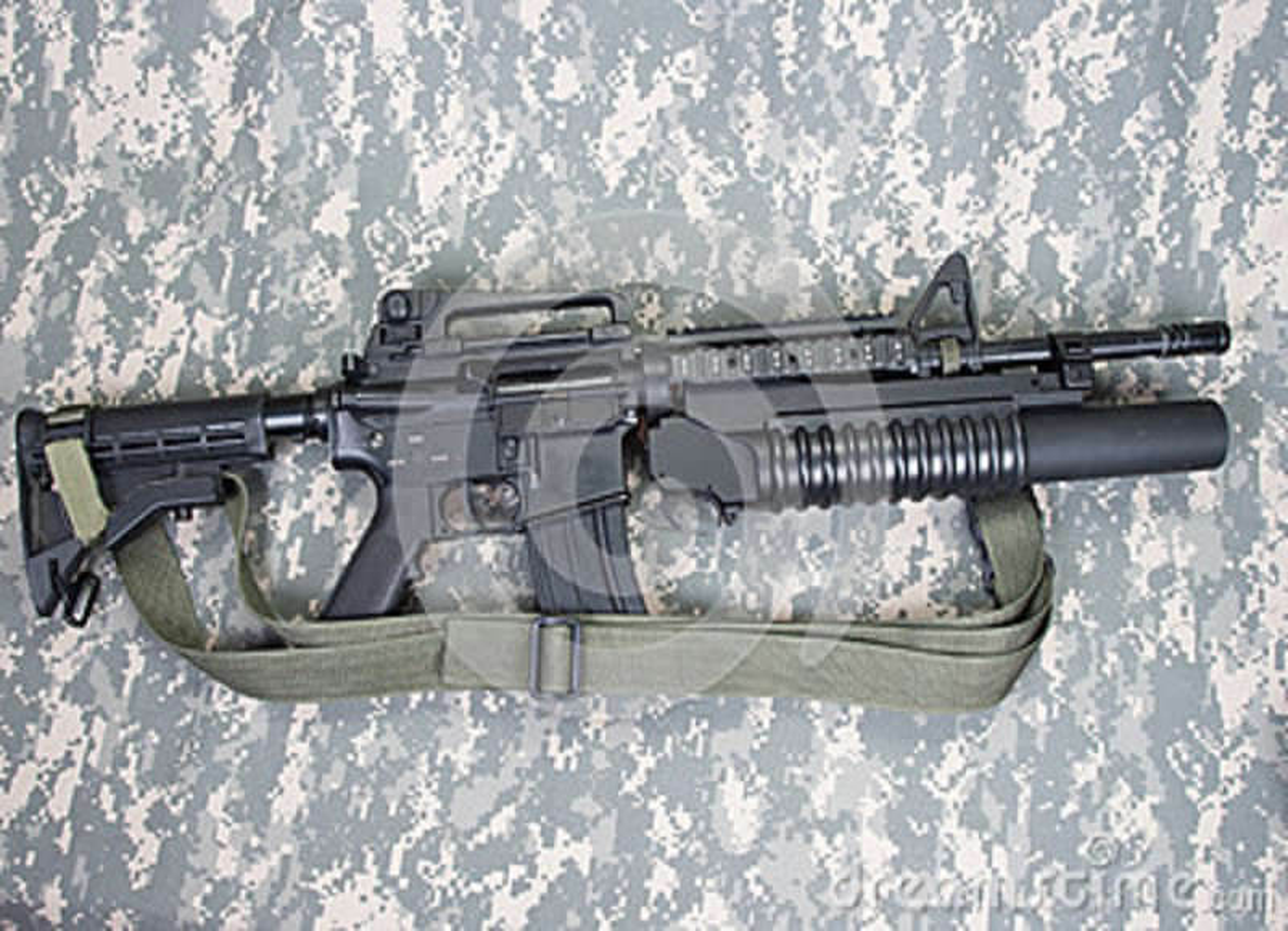 Download Carabina M4A1 Fornita Di Lanciagranate M203 Immagine Stock - Immagine di firearms, munito: 36892887
