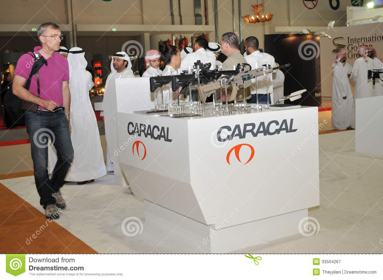 Exhibition Stall Vector : Caracal weaponry pavilion at abu dhabi international