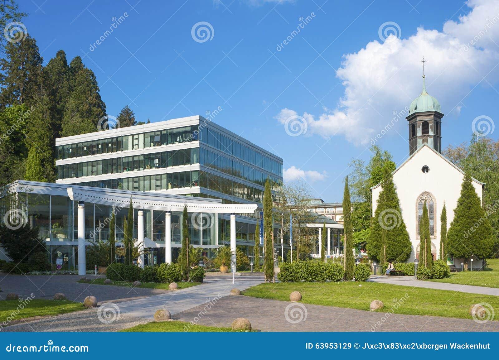 Caracalla Therme With Spital Church In Baden Baden Editorial