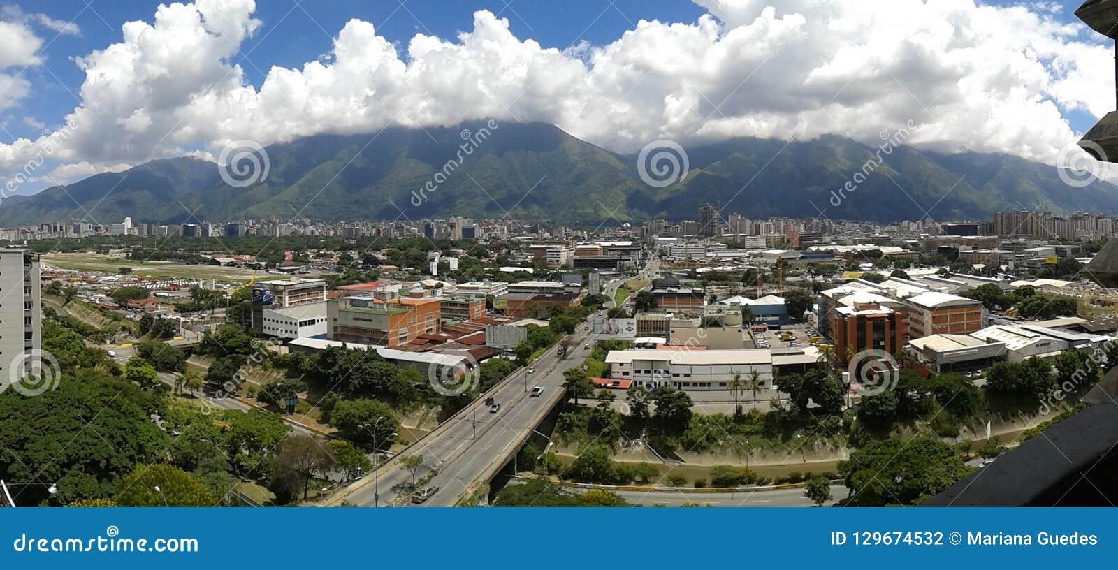 Caracas linia horyzontu miasto