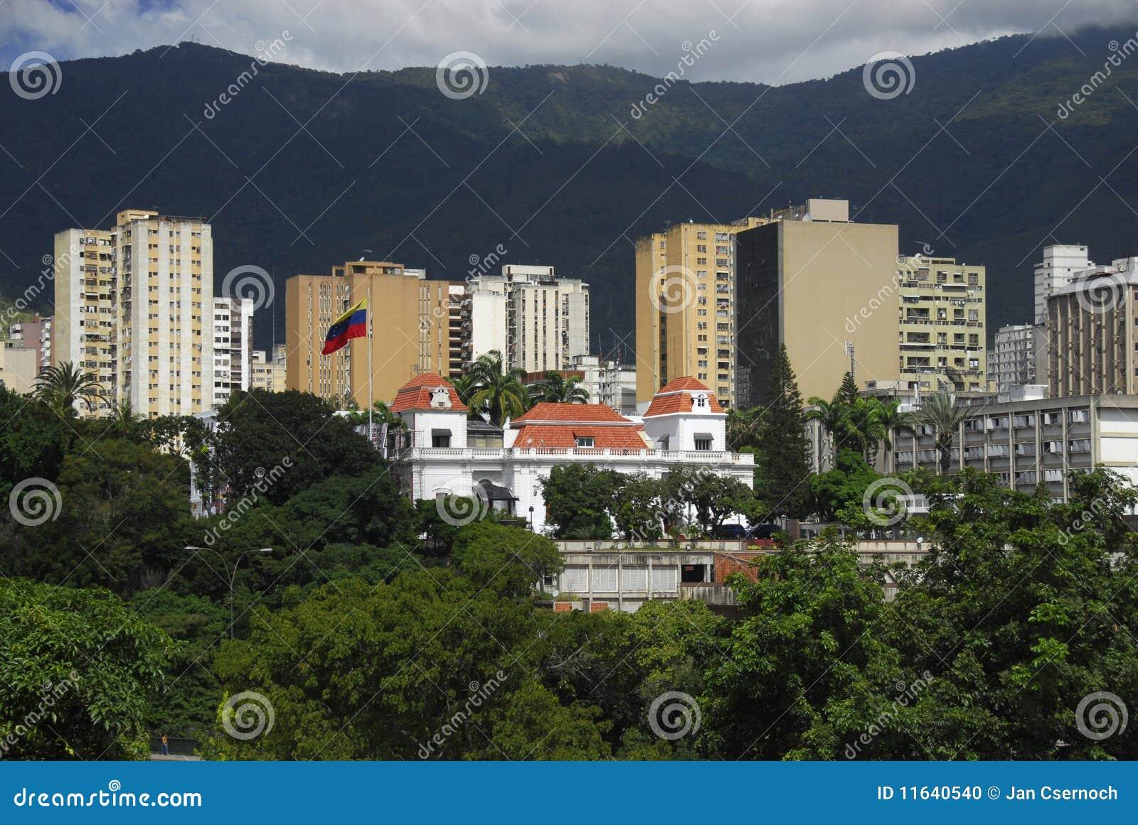 Caracas miraflores pałac prezydencki