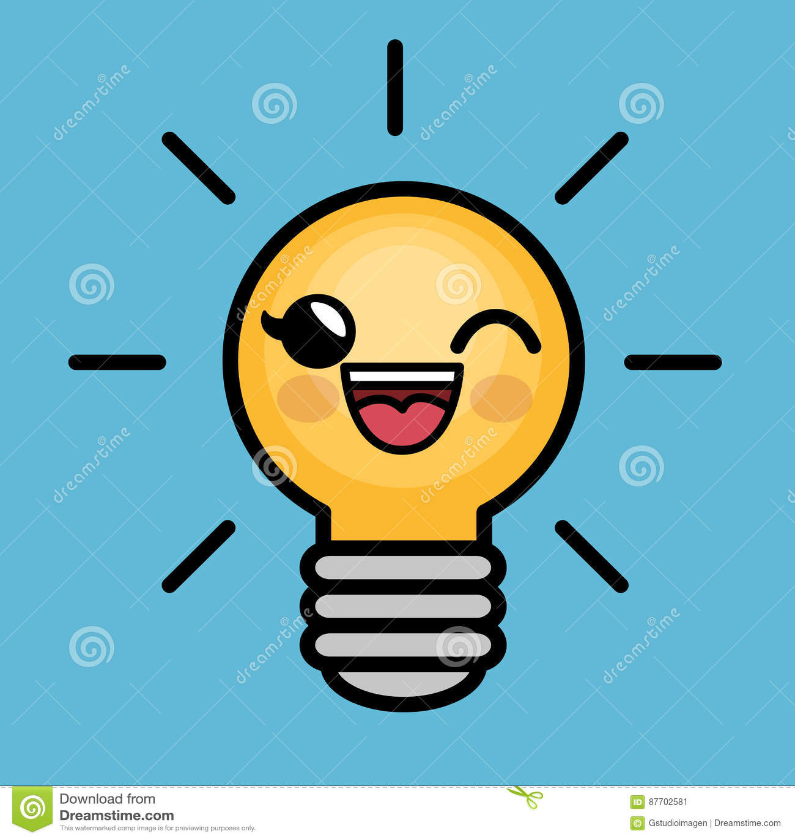 Caractère d idée de lumière d ampoule grand