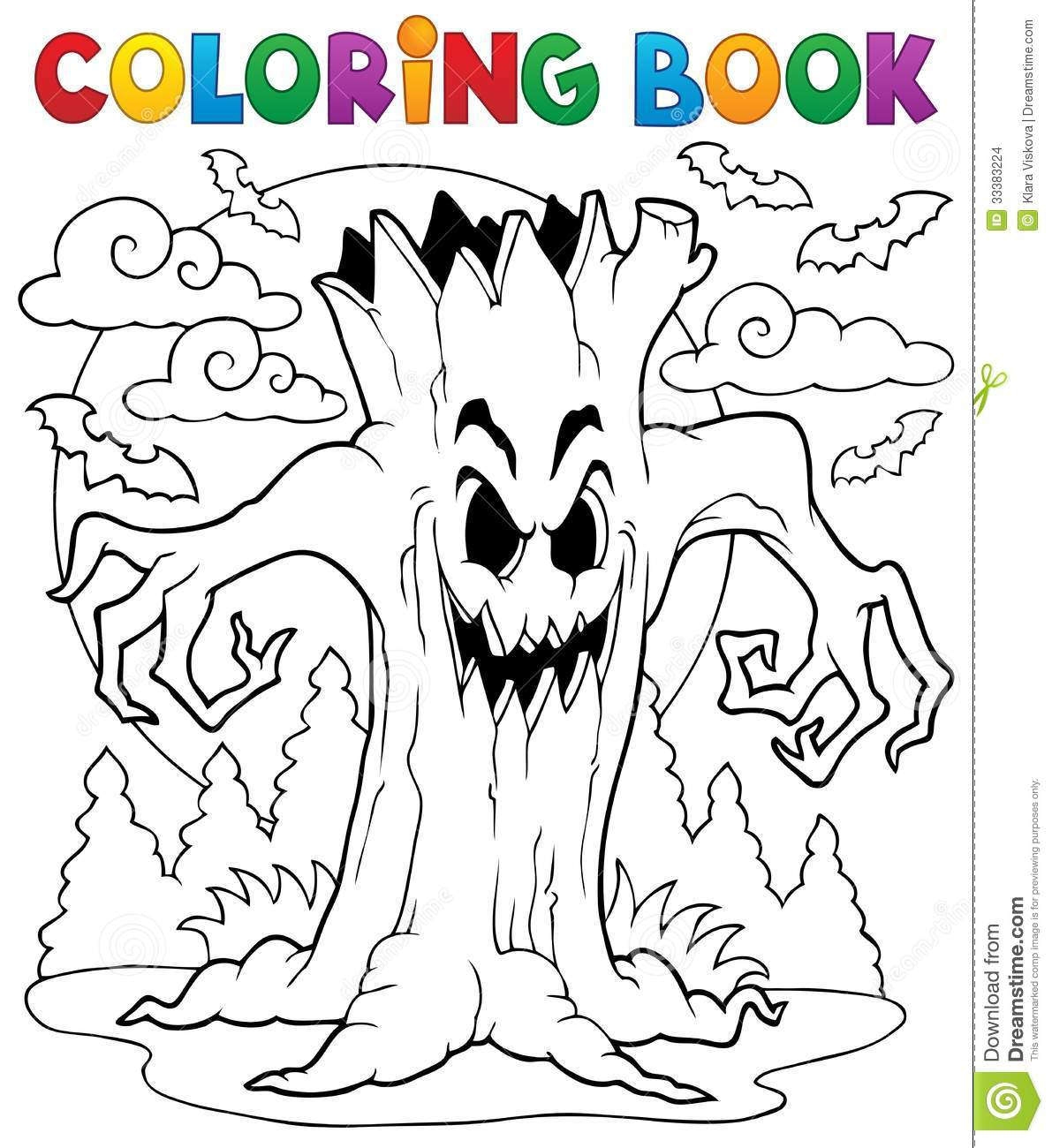 Caractere 7 De Halloween De Livre De Coloriage Illustration