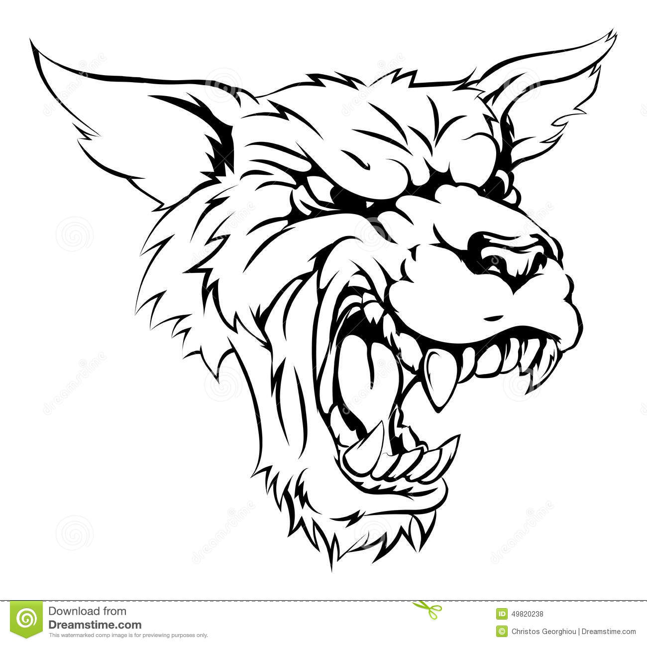 Caract re de loup garou ou de loup illustration de vecteur illustration du monochrome f ch - Loup dessin facile ...