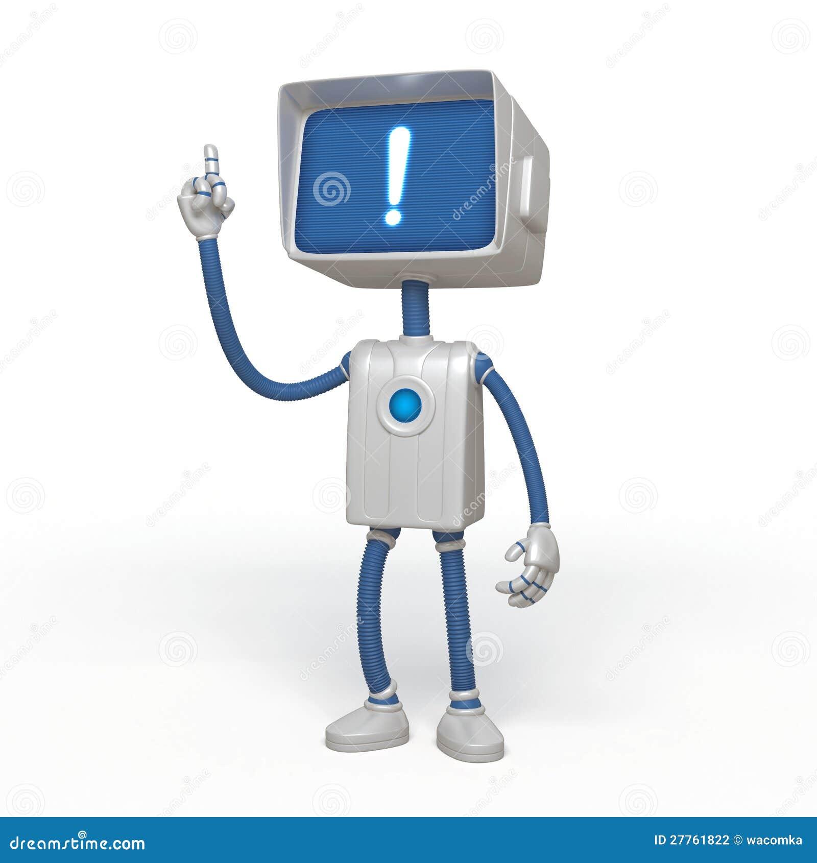 Caractère de robot d idée