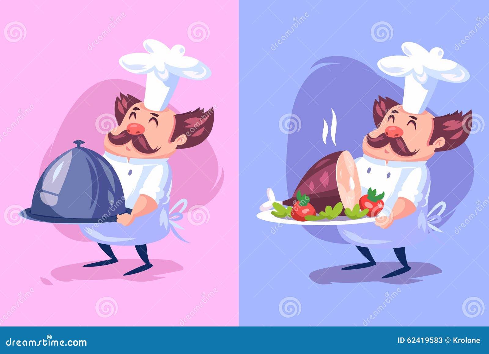 Caractère Drôle De Cuisinier Illustration De Vecteur Illustration ...