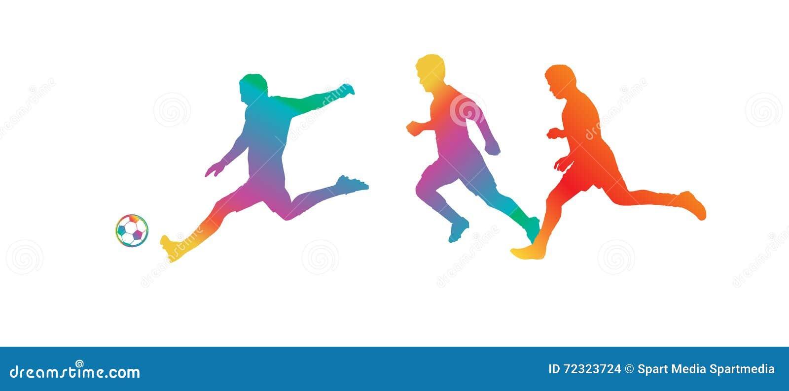 Caractères de dessin animé et de sport
