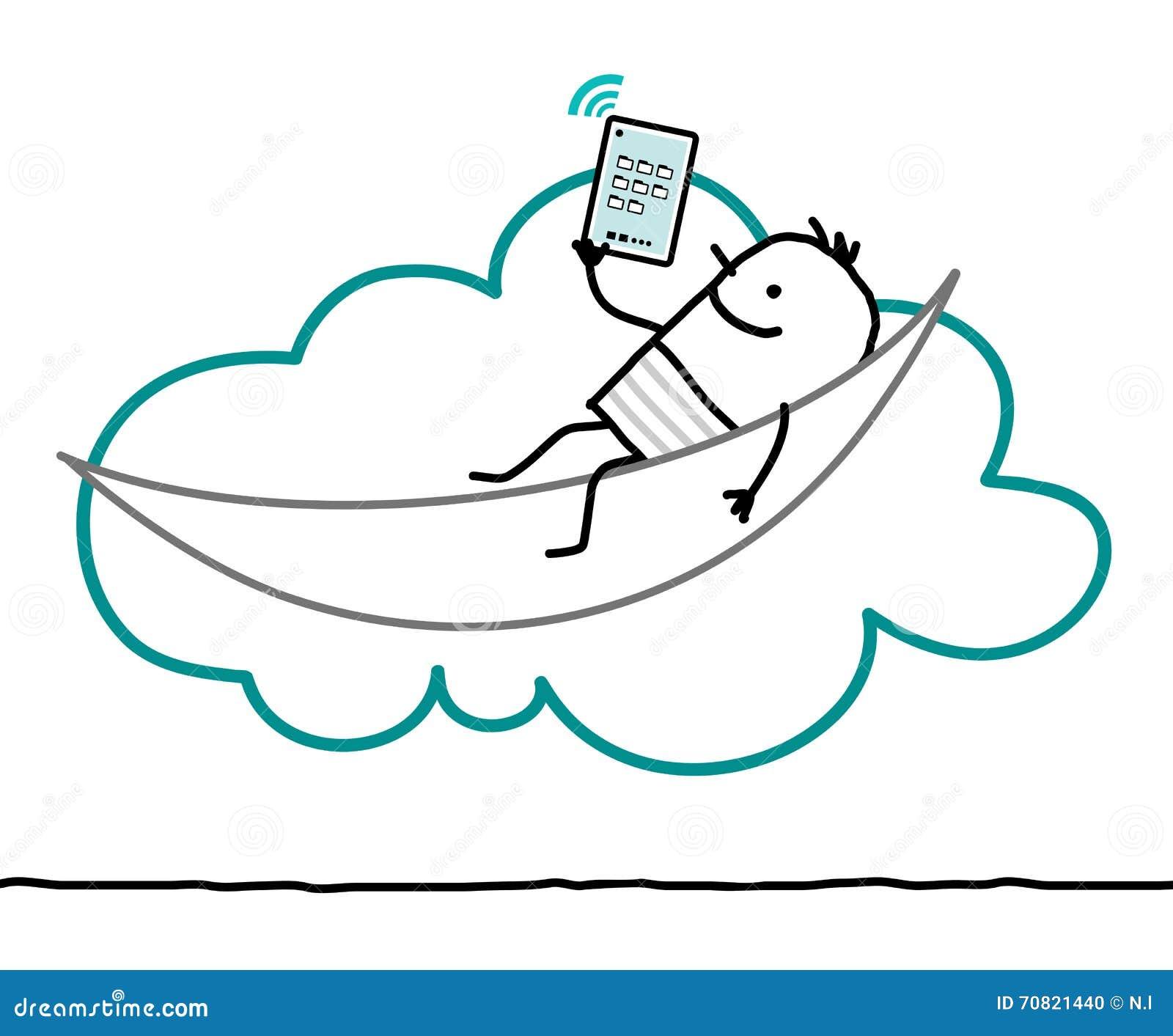 Caractères et nuage - loisirs