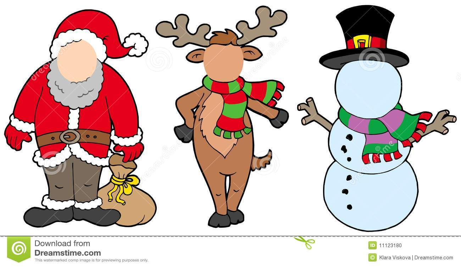 Caracteres de la Navidad sin la cara