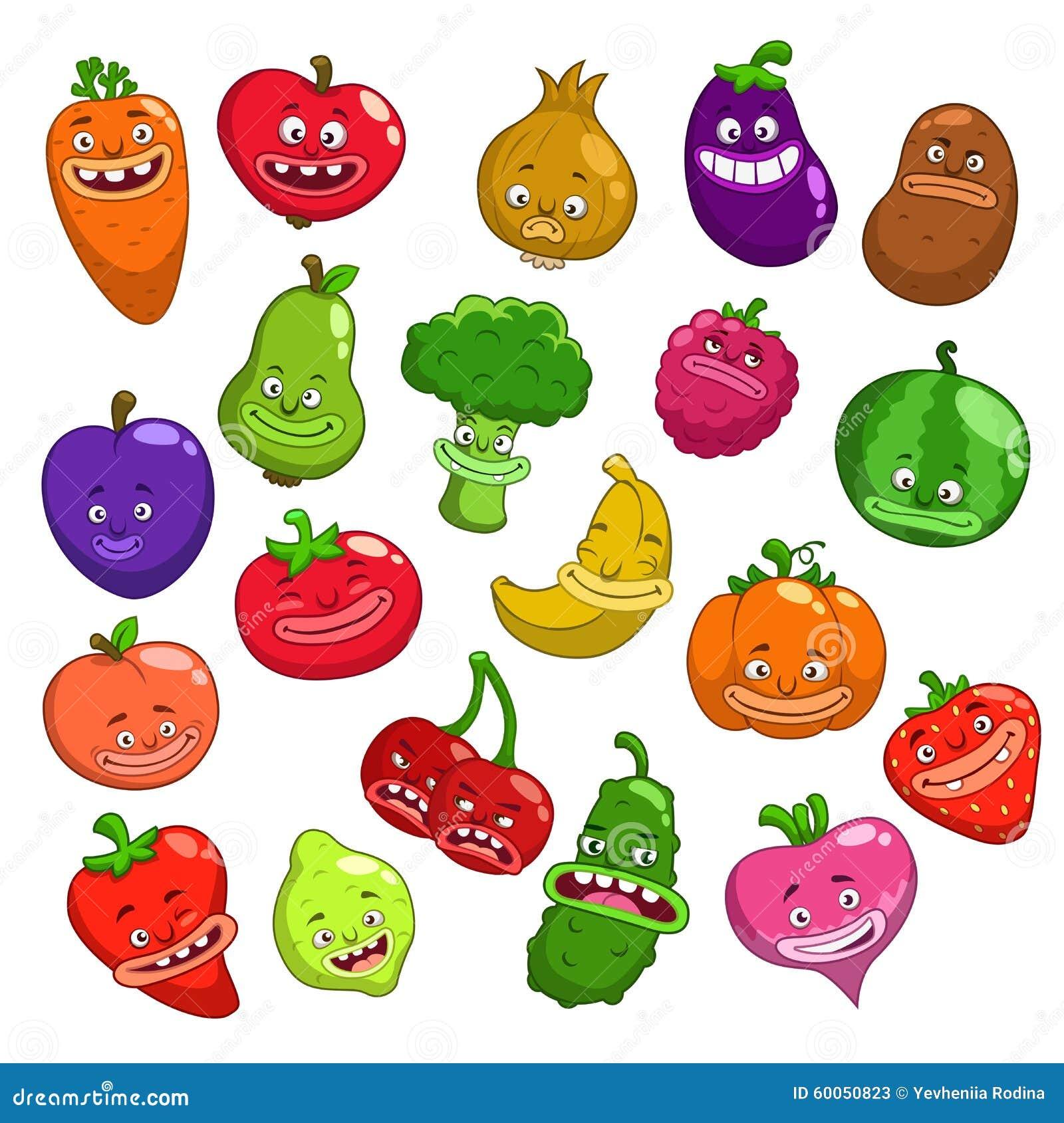 caracteres-divertidos-de-las-frutas-y-verduras-de-la-historieta ...