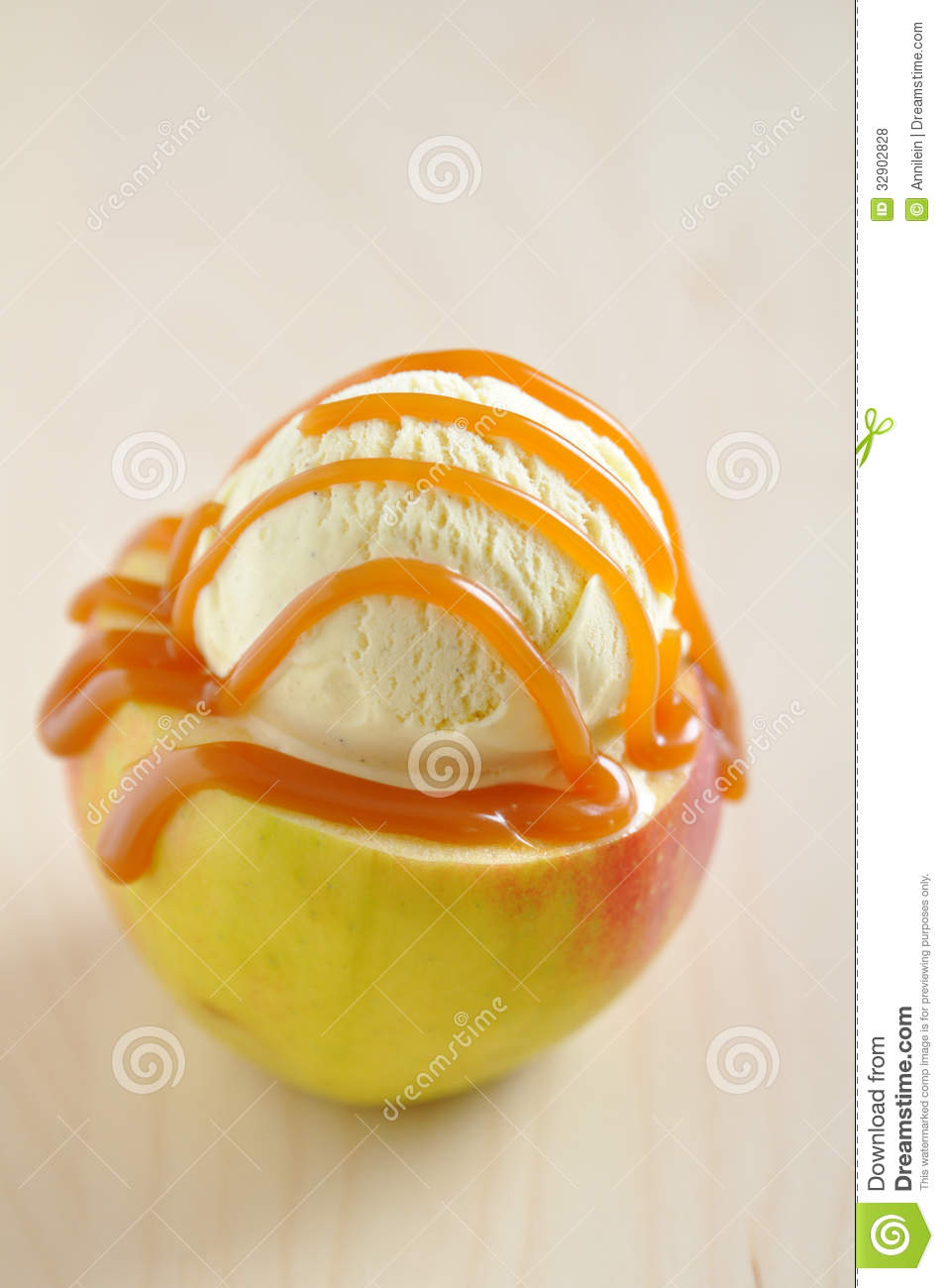 Caramel Apple Sundae Royalty Free Stock Photos - Image: 32902828