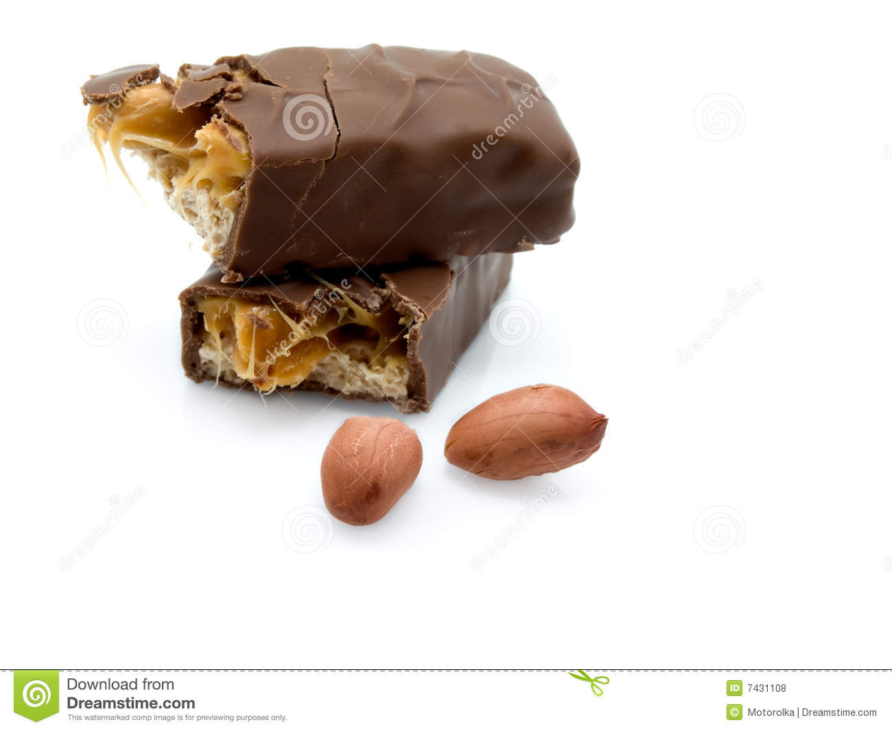 Caramel Chocolate Bar With Peanuts Royalty Free Stock Photos - Image ...