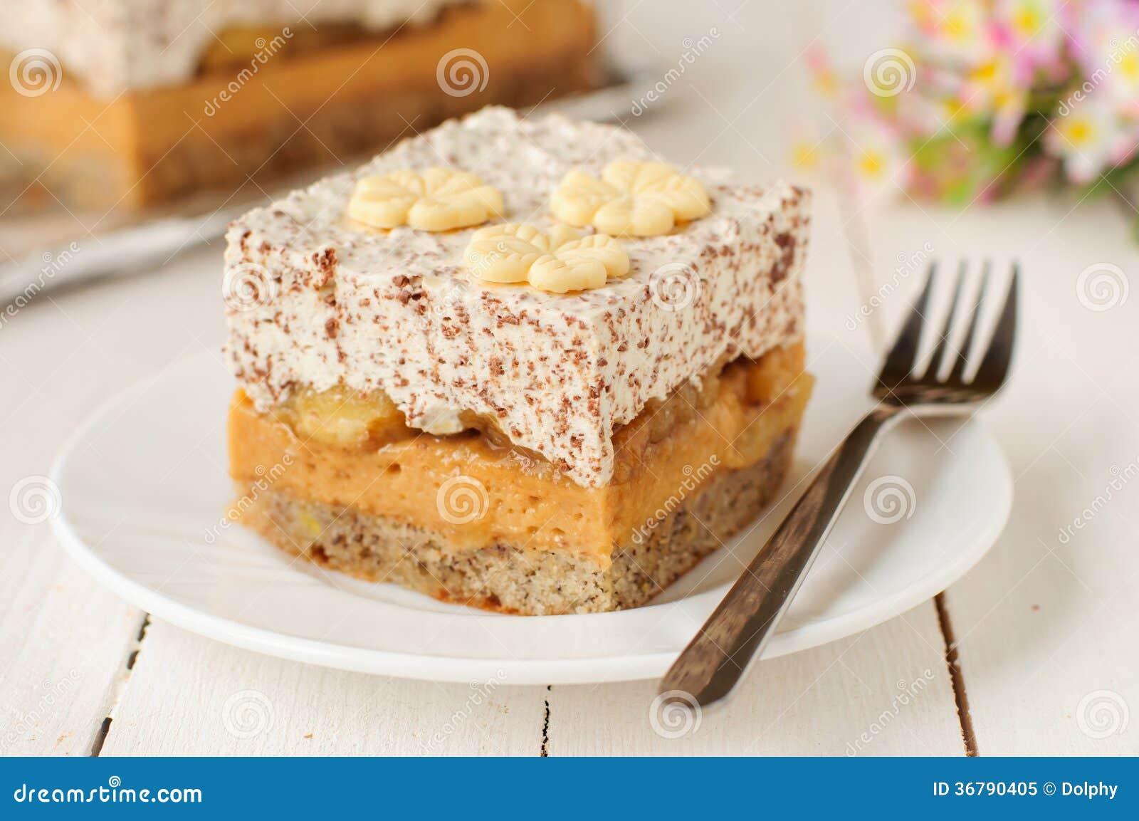 ... Photo: Caramel Custard, Banana and Chocolate Whipped Cream Layer Cake