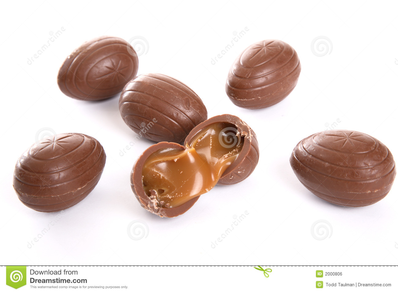 Caramel Filled Chocolate Eggs Royalty Free Stock Image ...