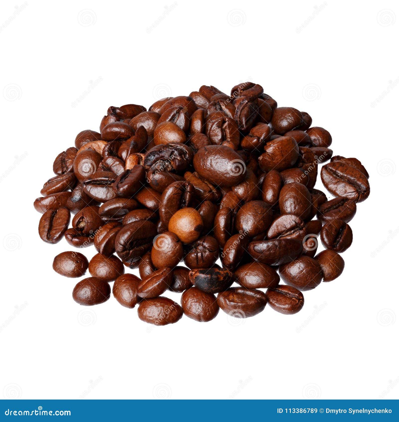 Caramel Latte Gourmet Coffee On White Background Stock