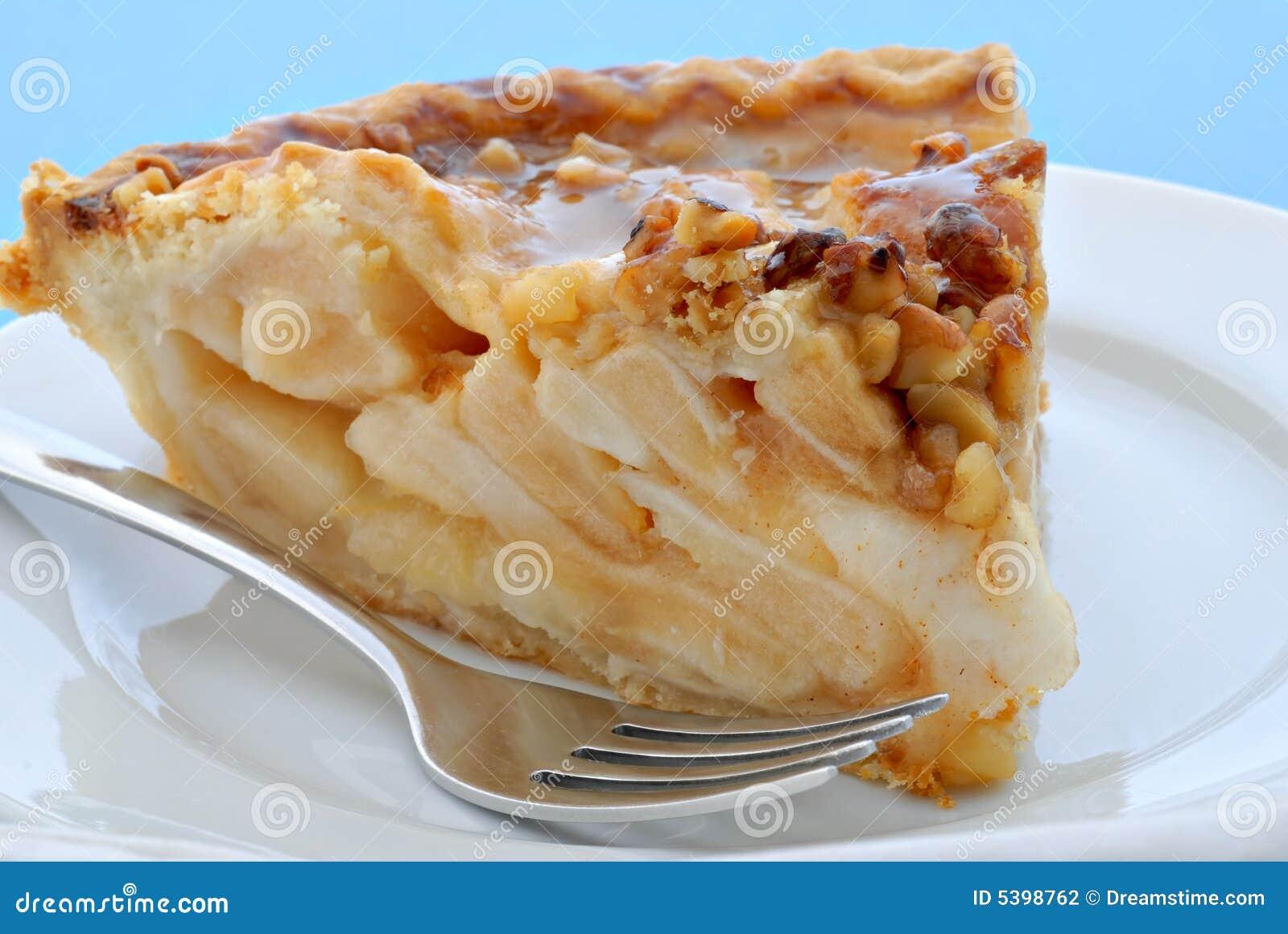 Caramel Walnut Pie Stock Photography - Image: 5398762