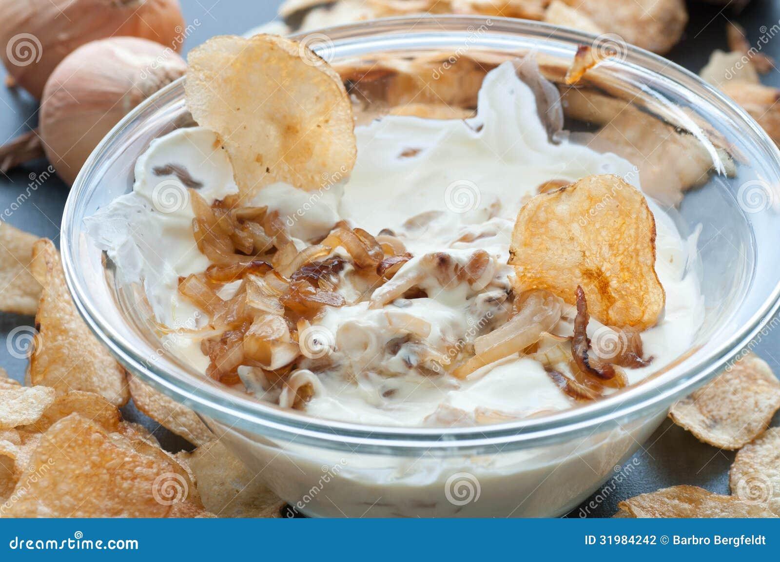 Caramelized Onion Dip Stock Photography - Image: 31984242
