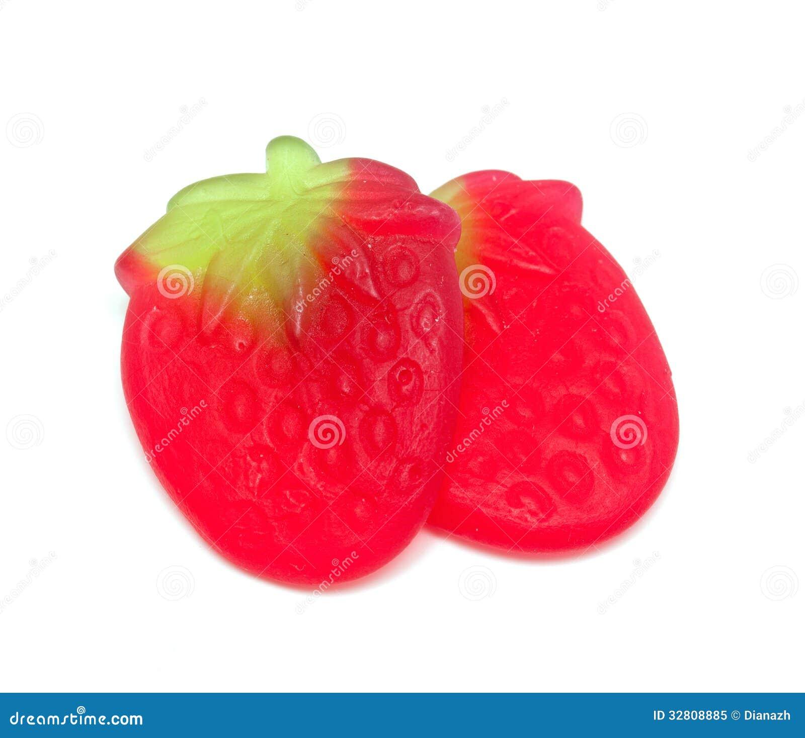 Caramella della gelatina della fragola