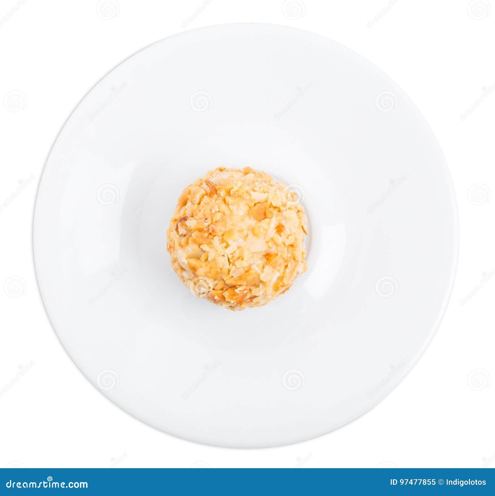 Caramella di cioccolata bianca con il biscotto sbriciolato