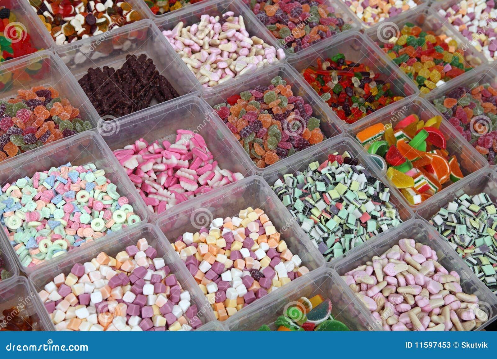 Fotografie stock: caramelle dolci nel negozio