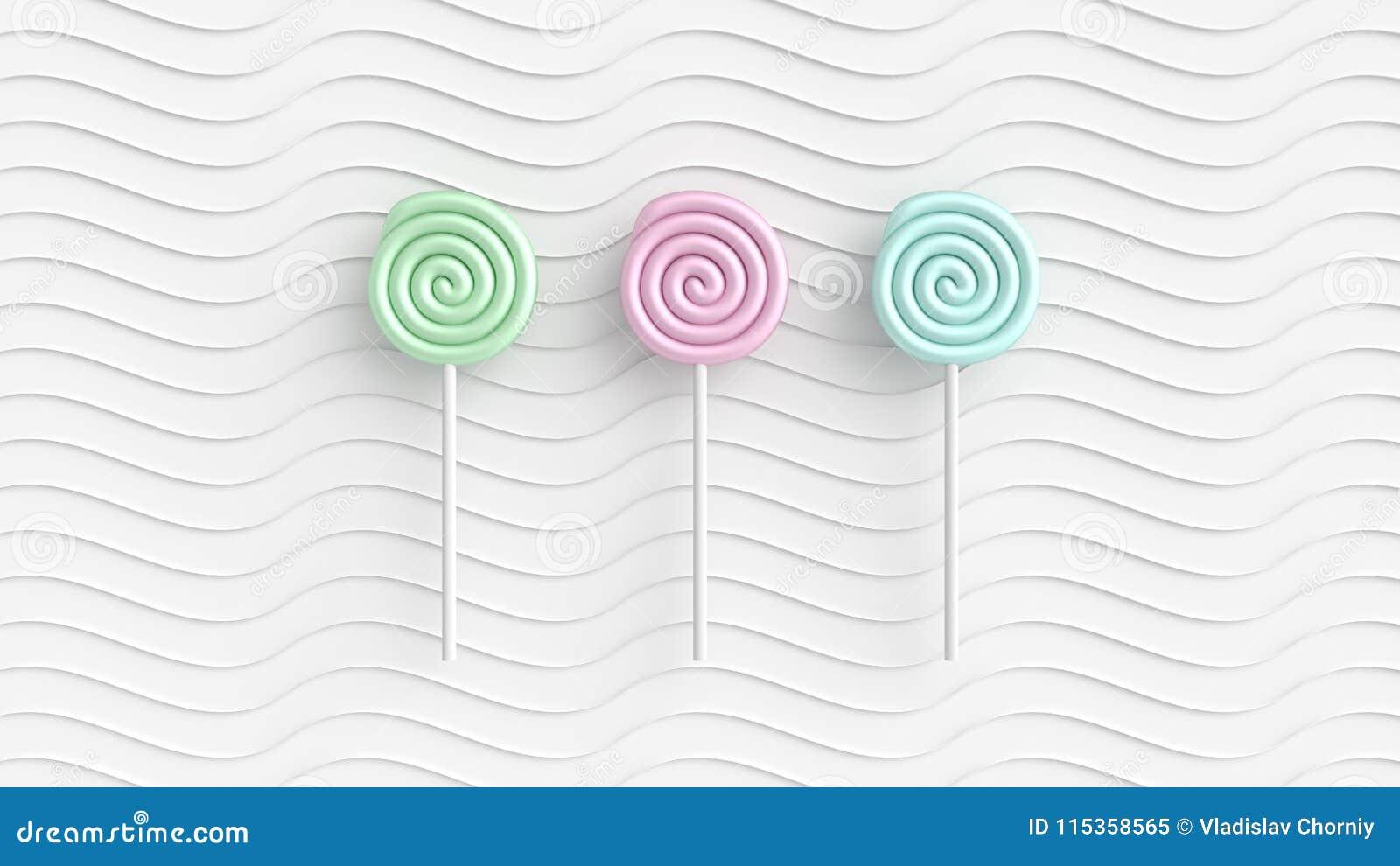 Caramelo coloreado