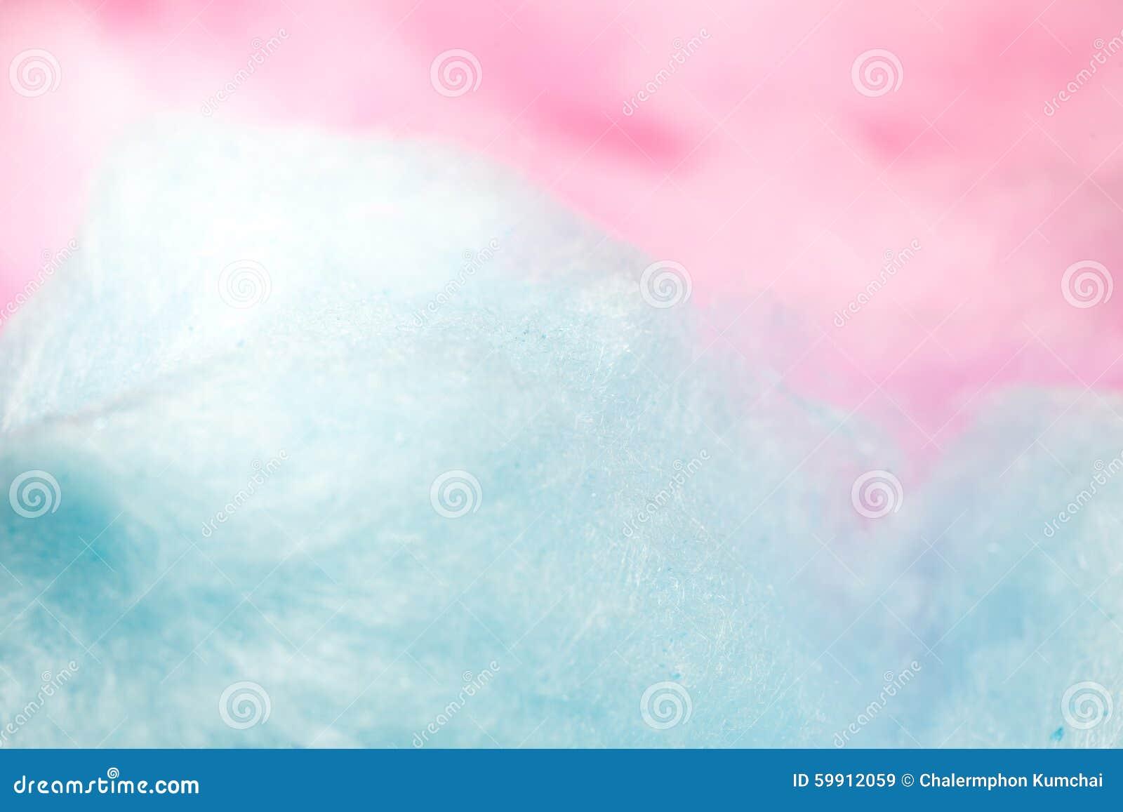 Caramelo de algodón colorido en el color suave para el fondo