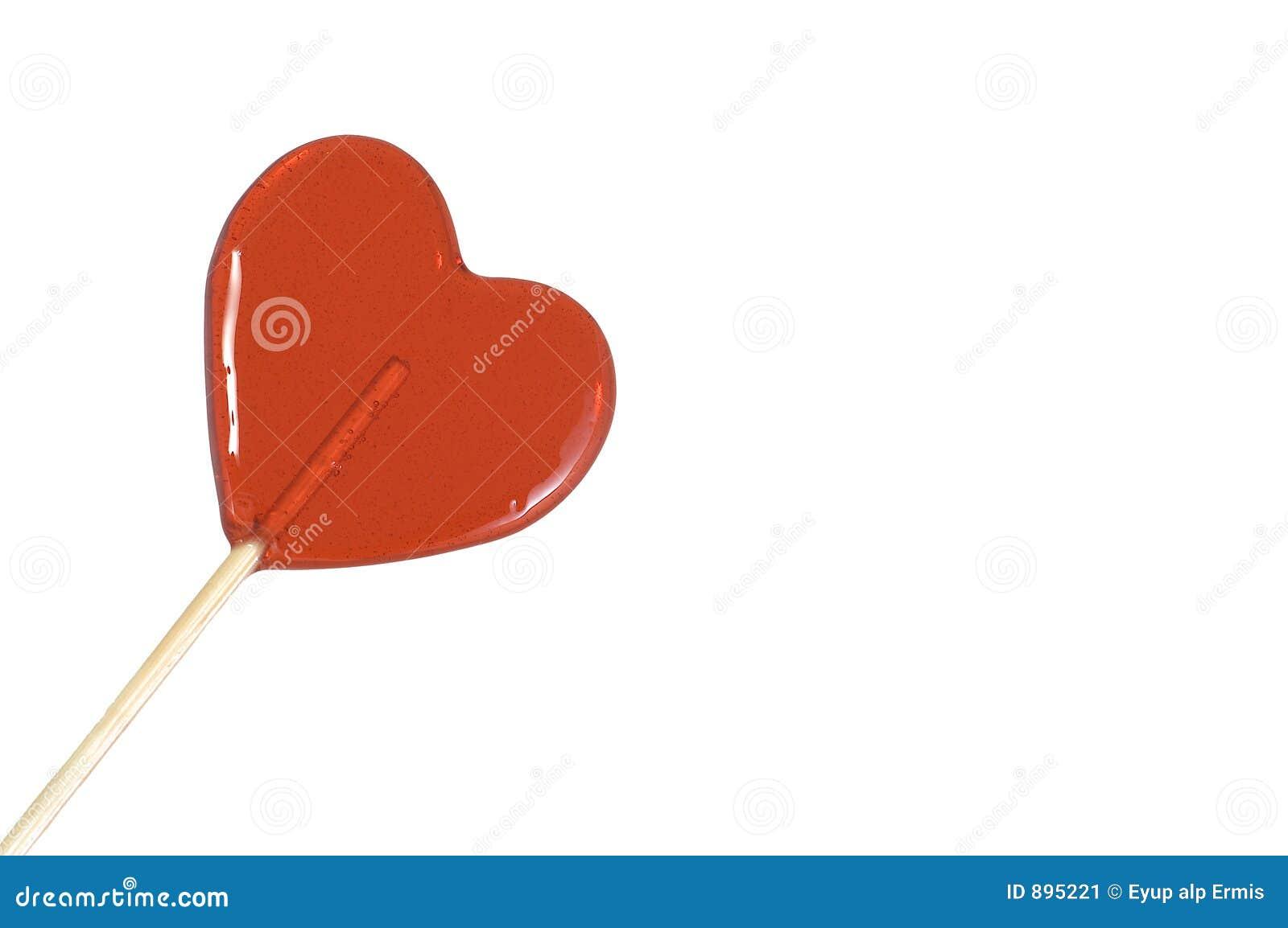 Caramelo en forma de corazón