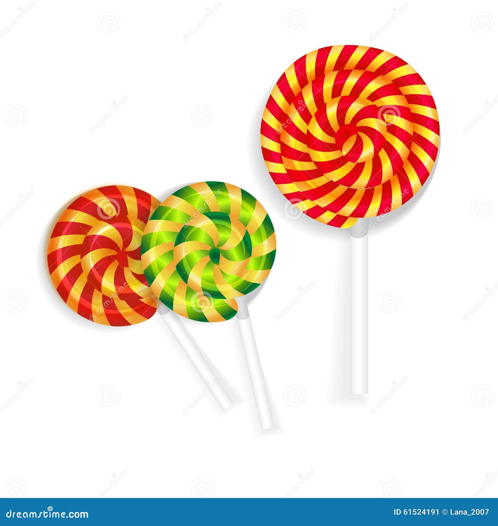 Caramelo en un palillo stock de ilustración. Imagen de caramelos ...