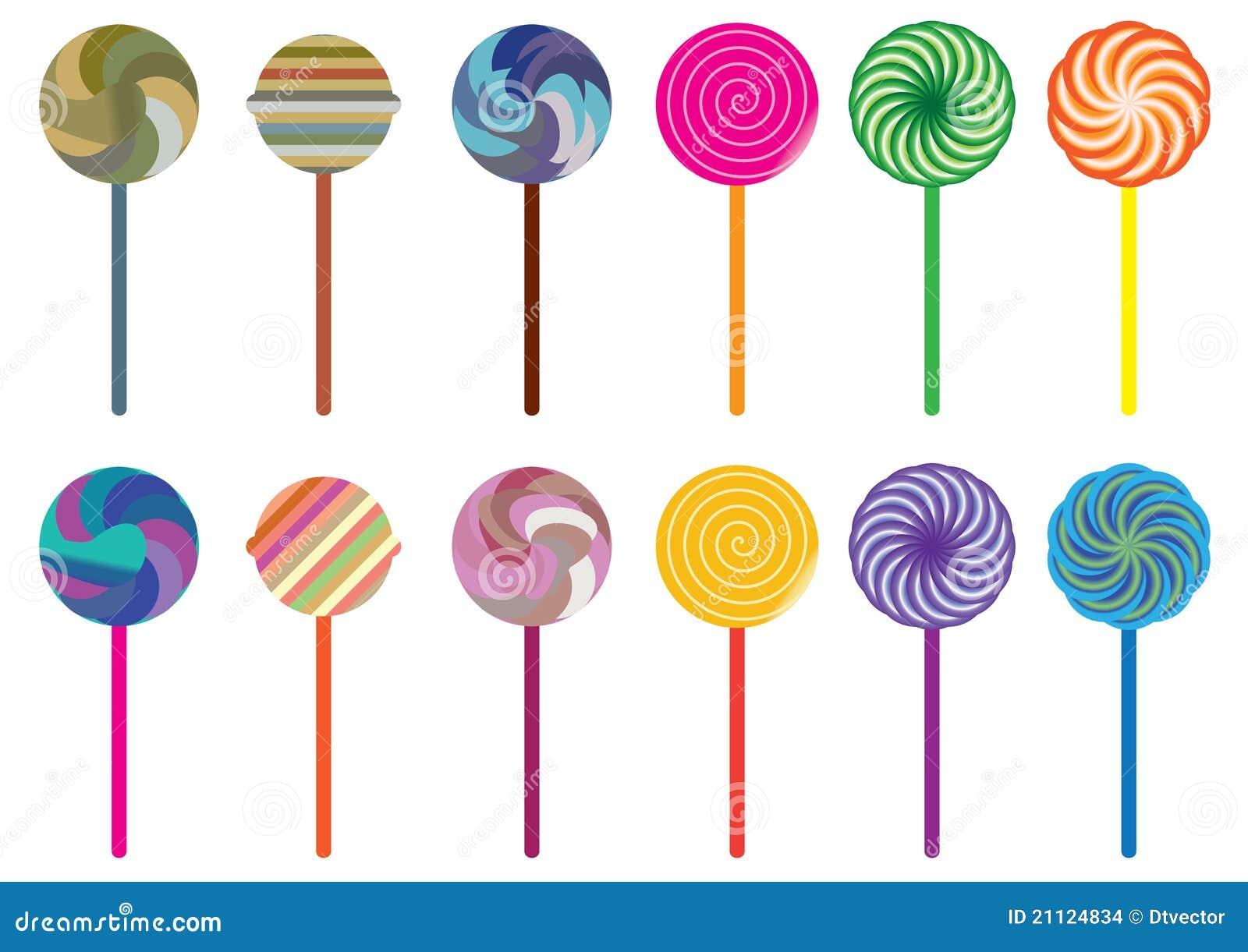 Caramelo Set_eps del Lollipop
