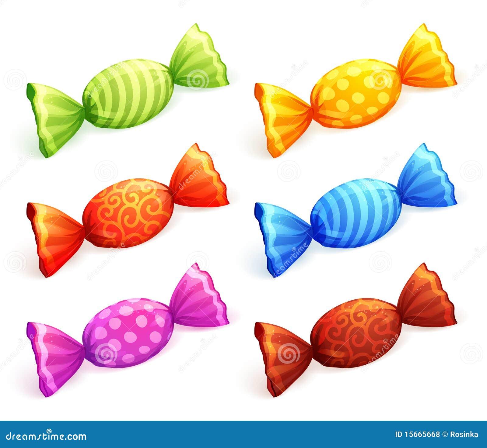 caramelos coloridos ilustraci n del vector ilustraci n de