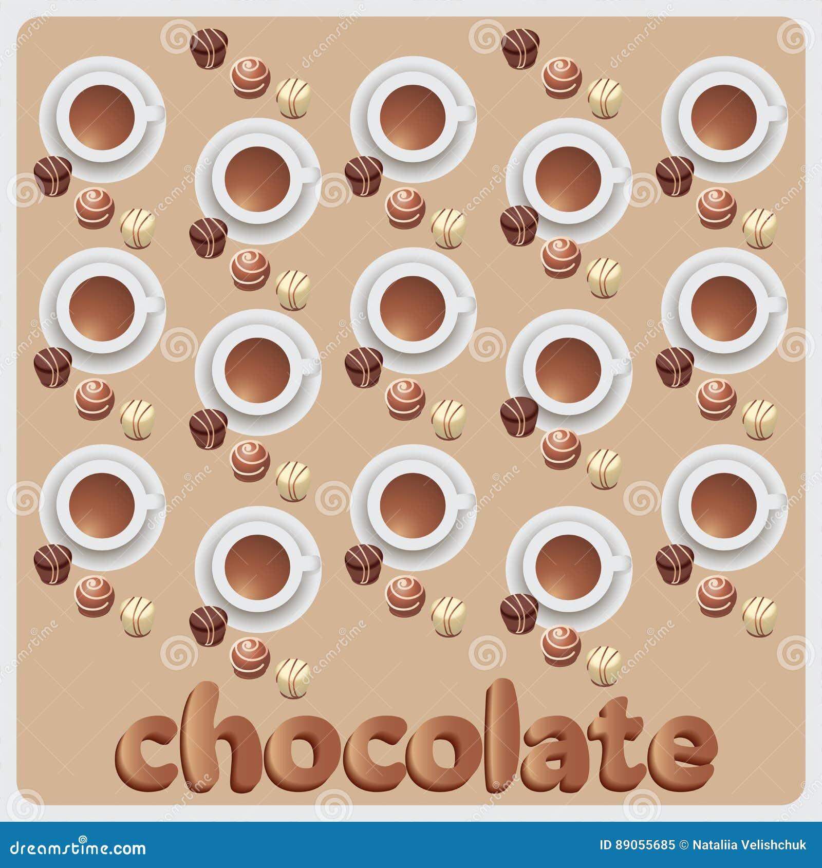 Caramelos De Chocolate Y Chocolate Caliente La Composición Con La ...