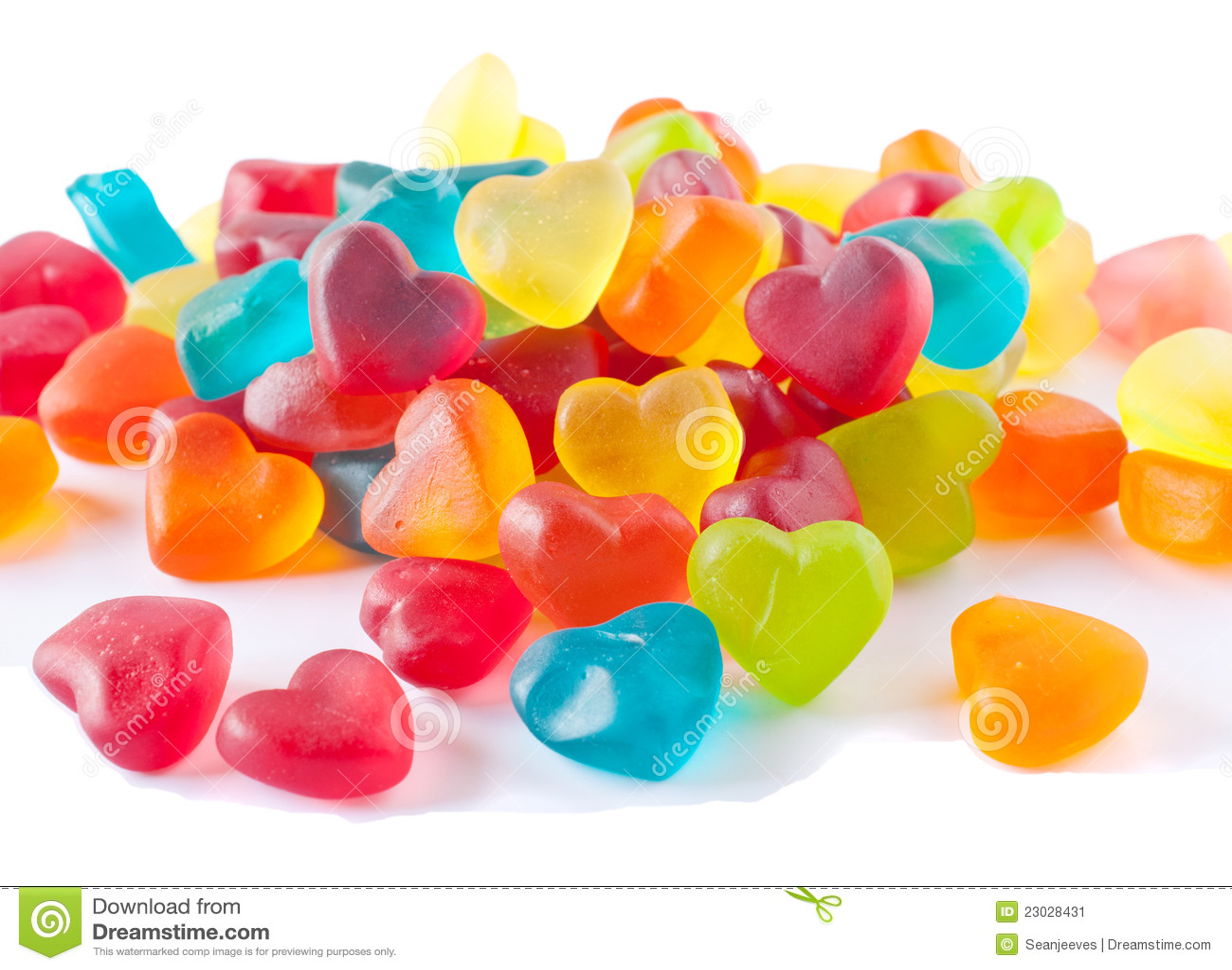 Caramelos En Forma De Corazn Imagen de archivo Imagen de corazn