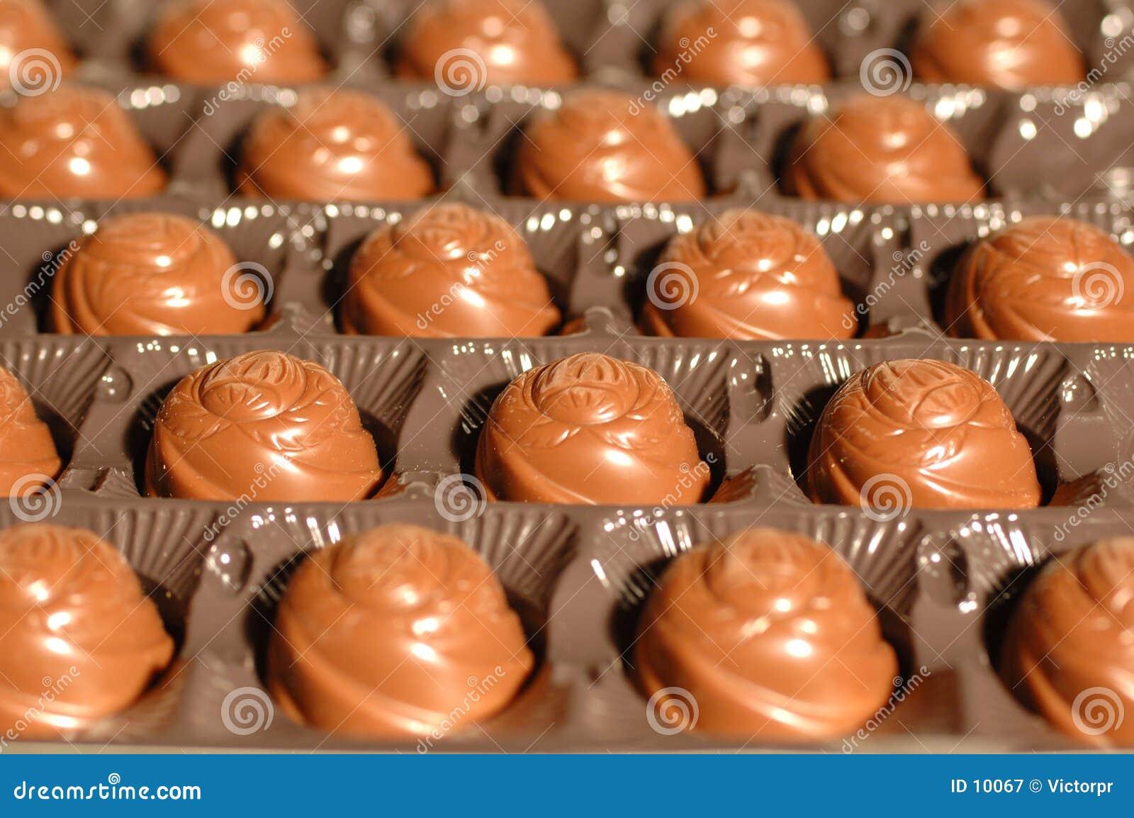 Caramelos en un rectángulo