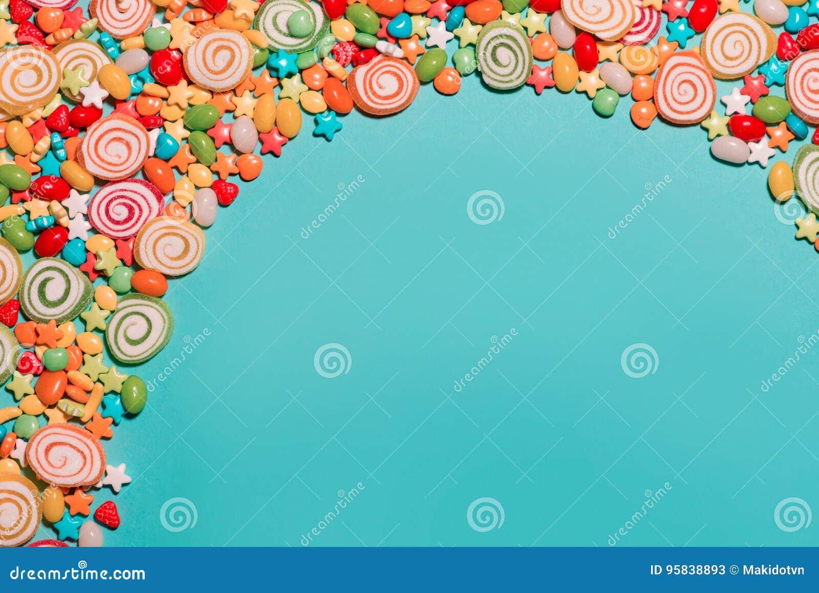 Imagenes Coloridas De Fondo: Caramelos Y Jaleas Coloridos Como Fondo Imagen De Archivo